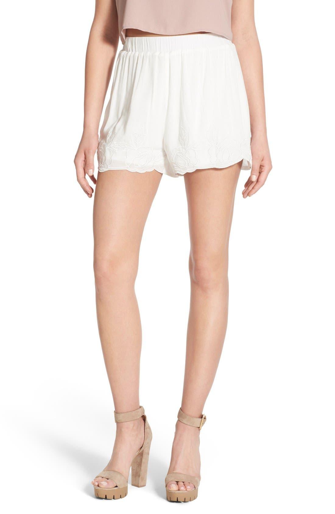 Main Image - Glamorous Embroidered Shorts
