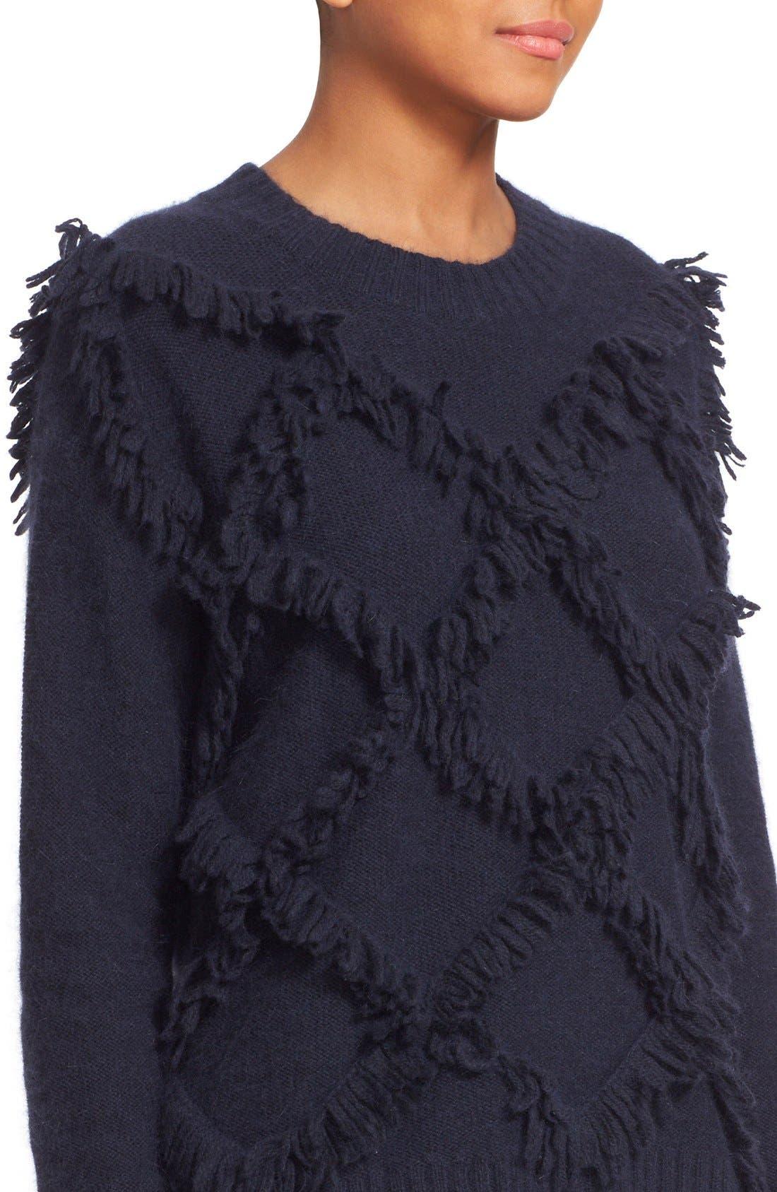 Alternate Image 4  - Rebecca Taylor Fringe Pullover Sweater
