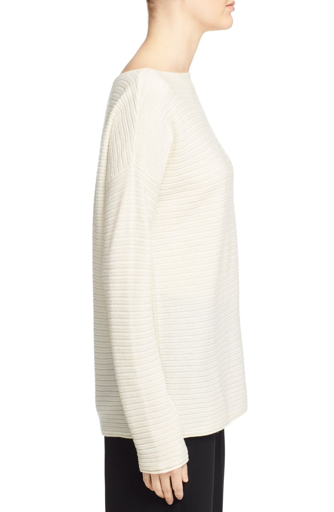 Alternate Image 3  - Vince Boatneck Horizontal Rib Cashmere Sweater