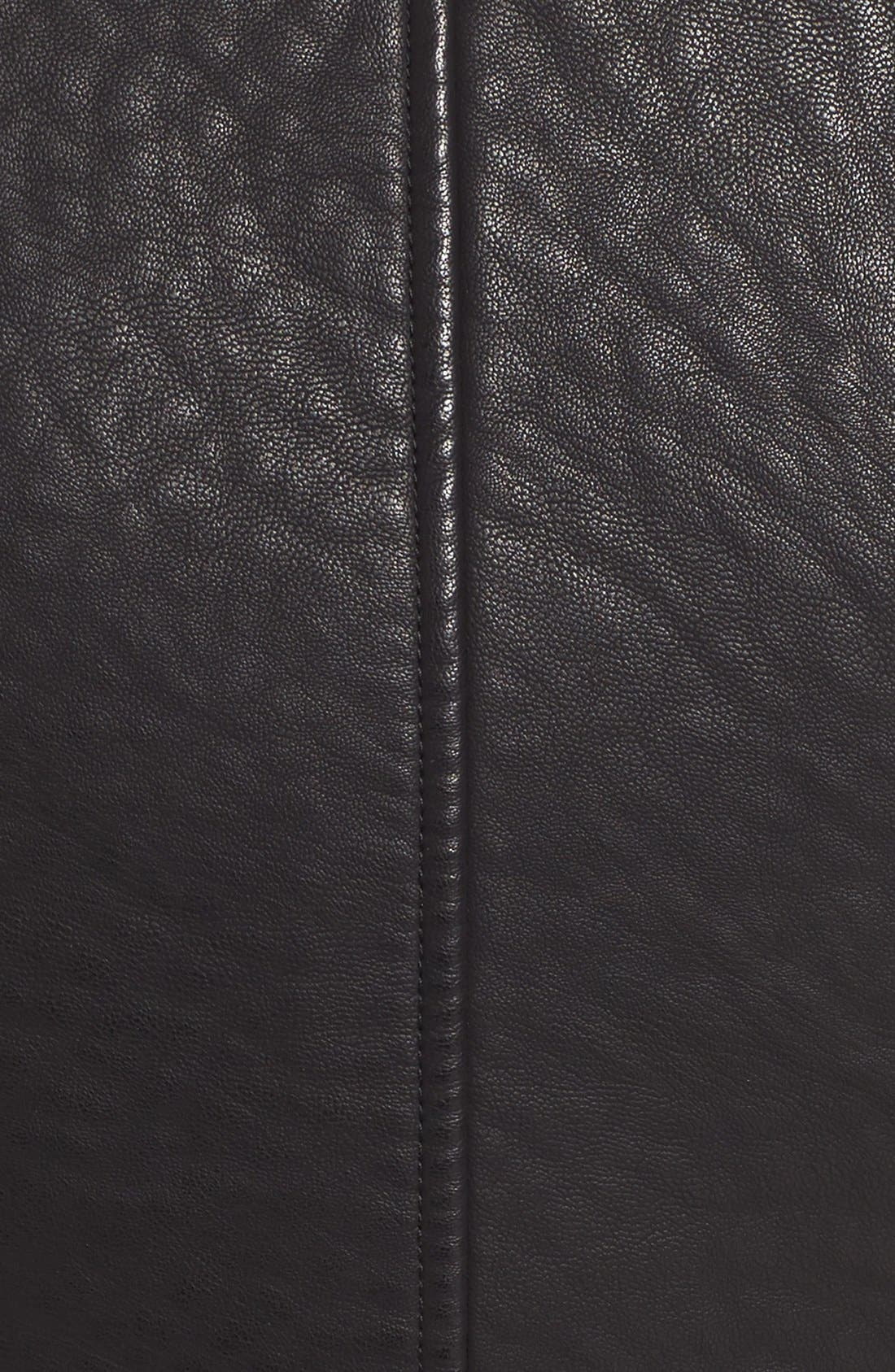 Alternate Image 5  - Steve Madden Faux Leather Moto Jacket with Faux Shearling Collar