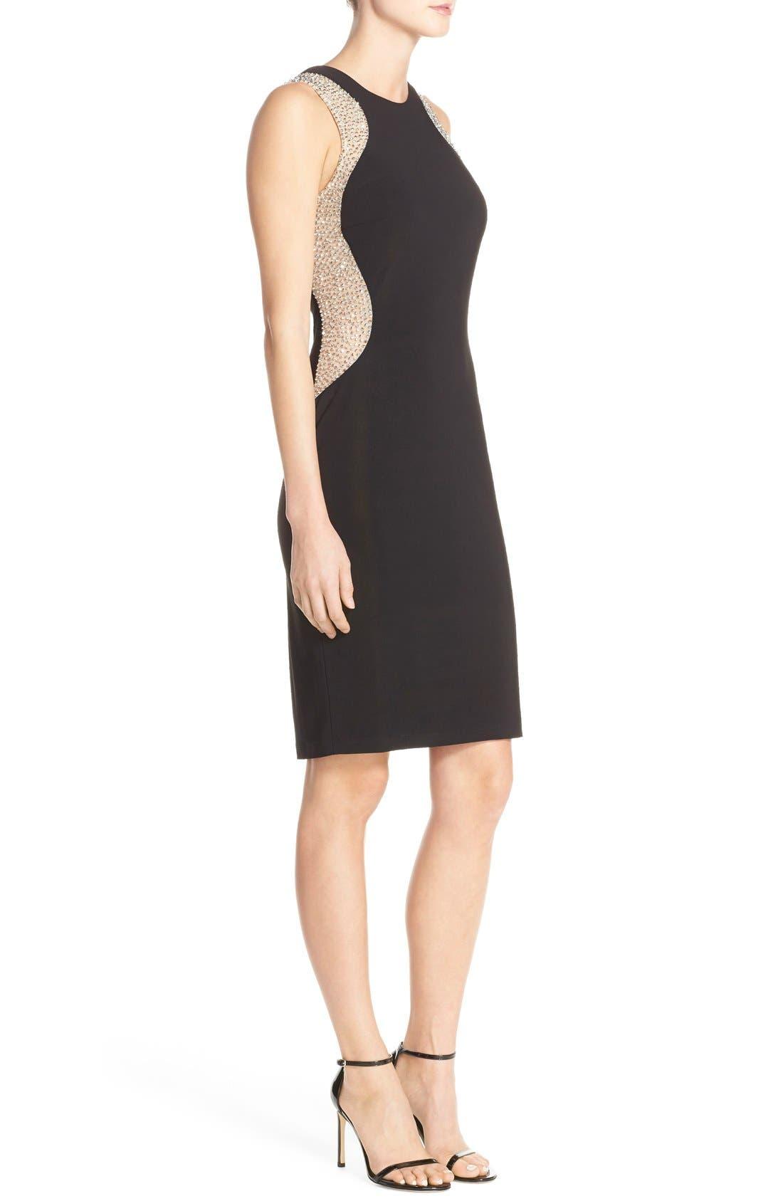 Alternate Image 3  - Xscape Beaded Mesh & Jersey Sheath Dress