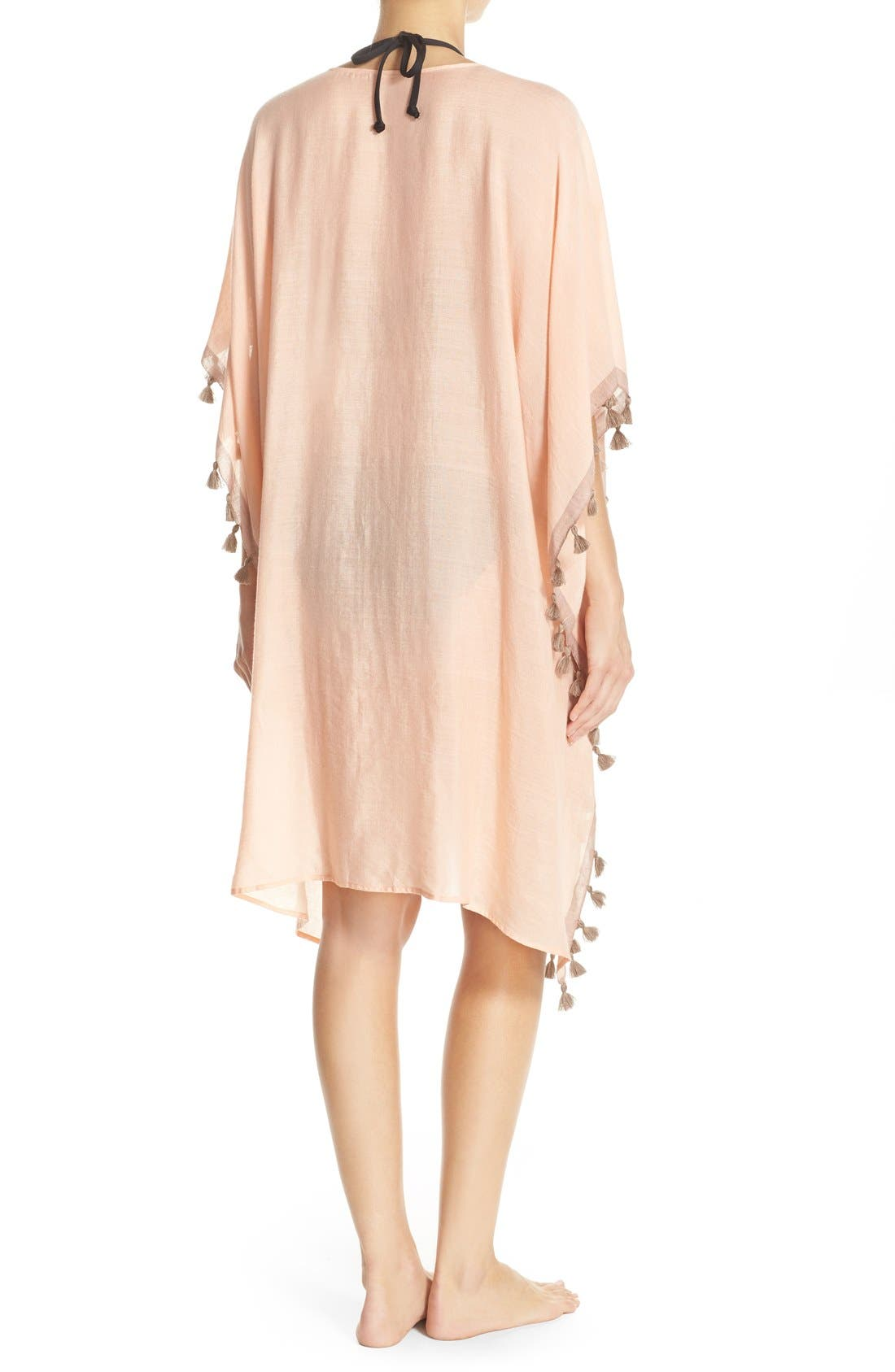 Alternate Image 2  - ale BY ALESSANDRA 'Mother Earth' Tassel Trim Cover-Up Kimono