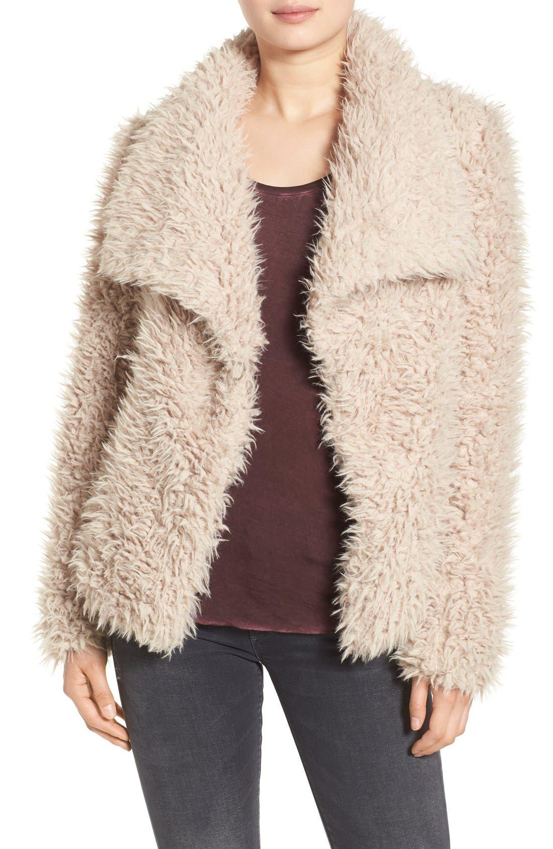 Alternate Image 1 Selected - Betsey Johnson Faux Fur Jacket