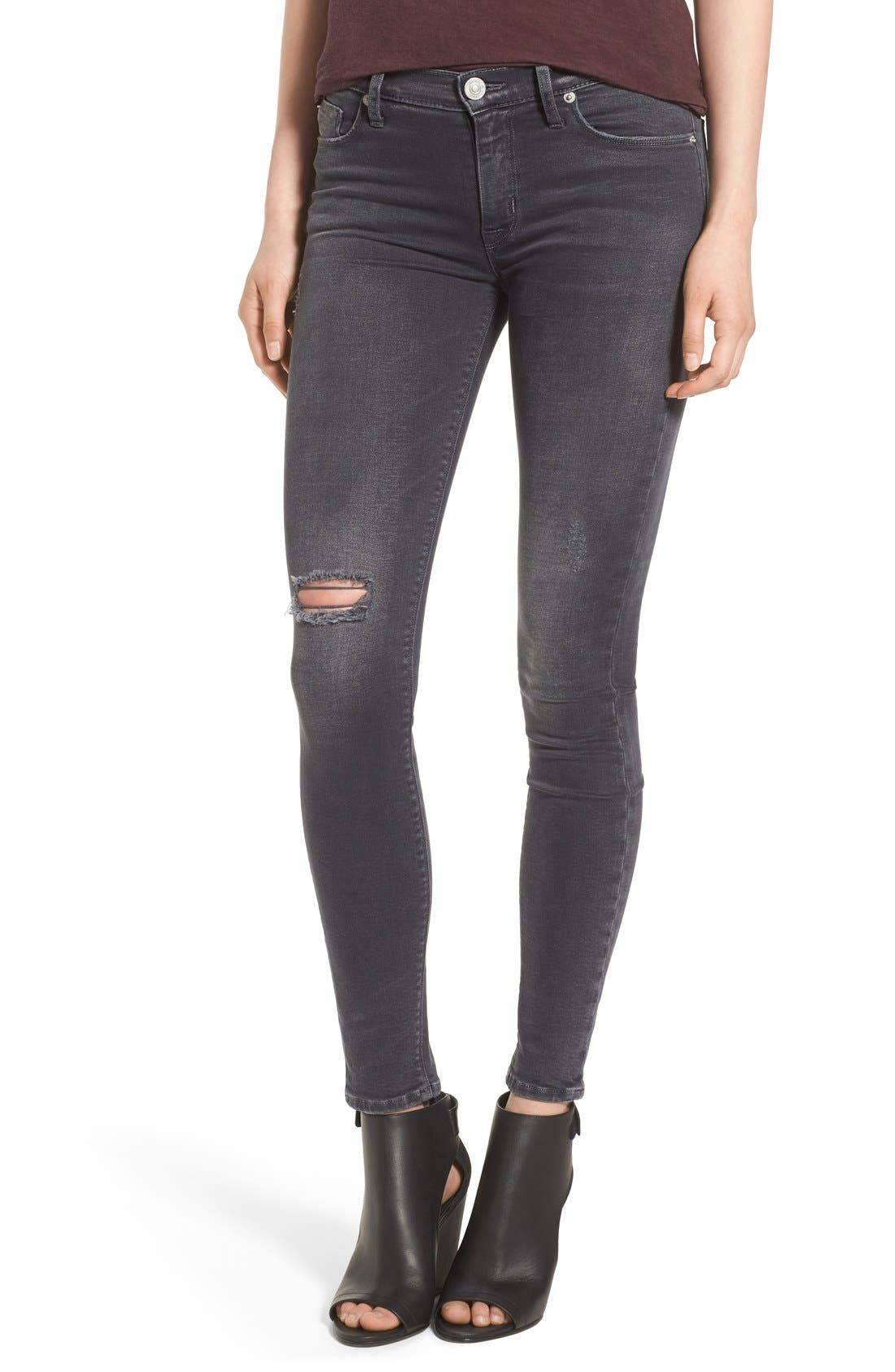 Alternate Image 1 Selected - Hudson Jeans Krista Ankle Jeans (Stormy Horizon)