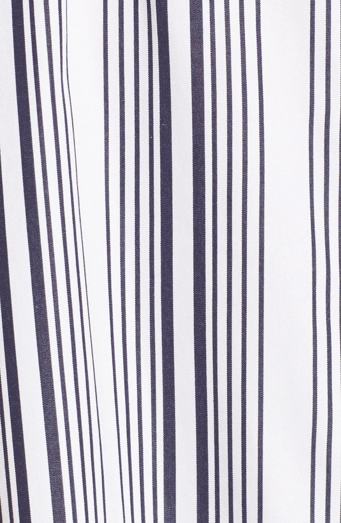 Alternate Image 5  - Foxcroft Stripe Non-Iron Cotton Sleeveless Maxi Shirtdress (Regular & Petite)