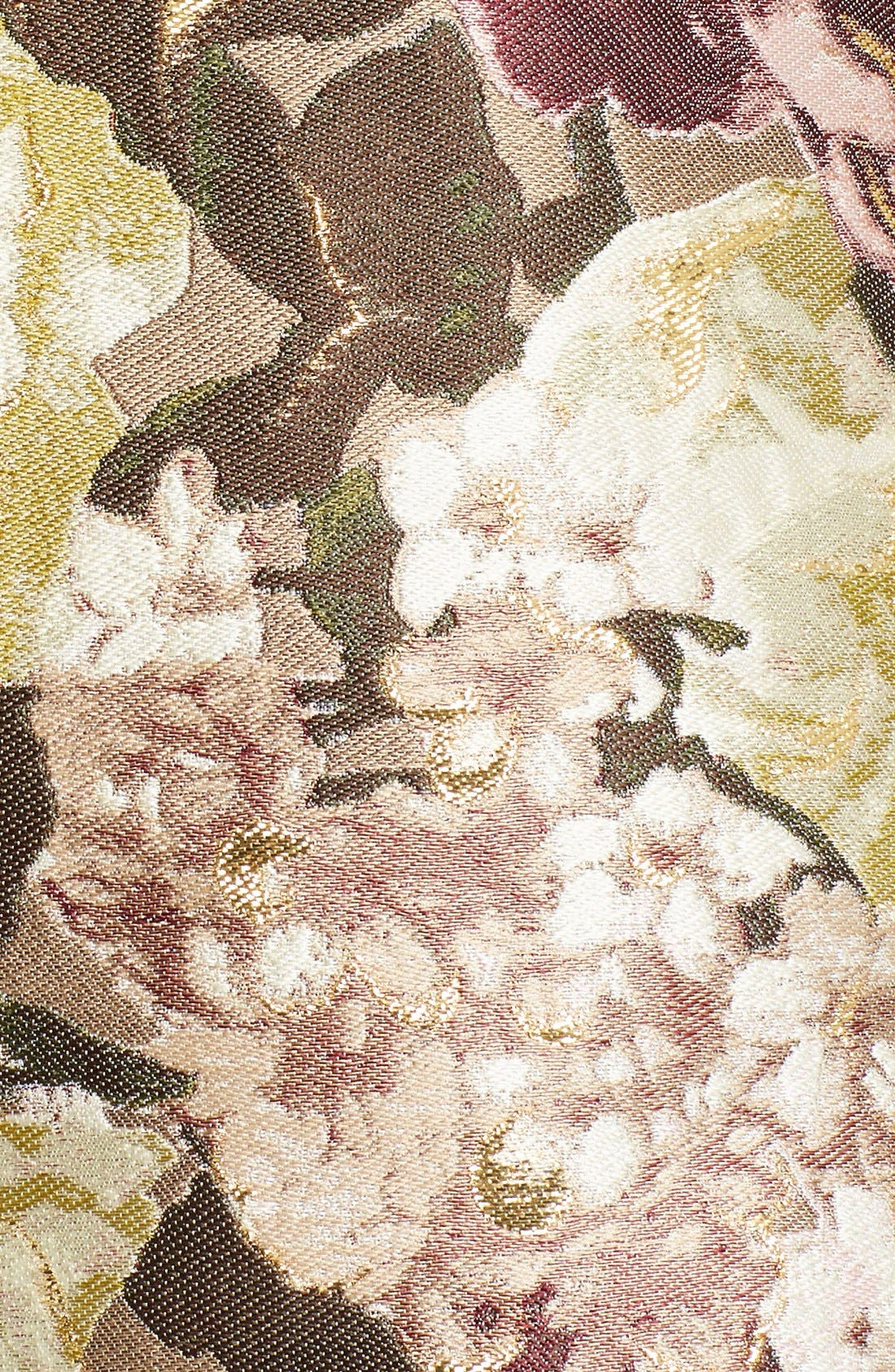 Alternate Image 3  - Valentino Kimono Floral Silk Blend Jacquard Dress