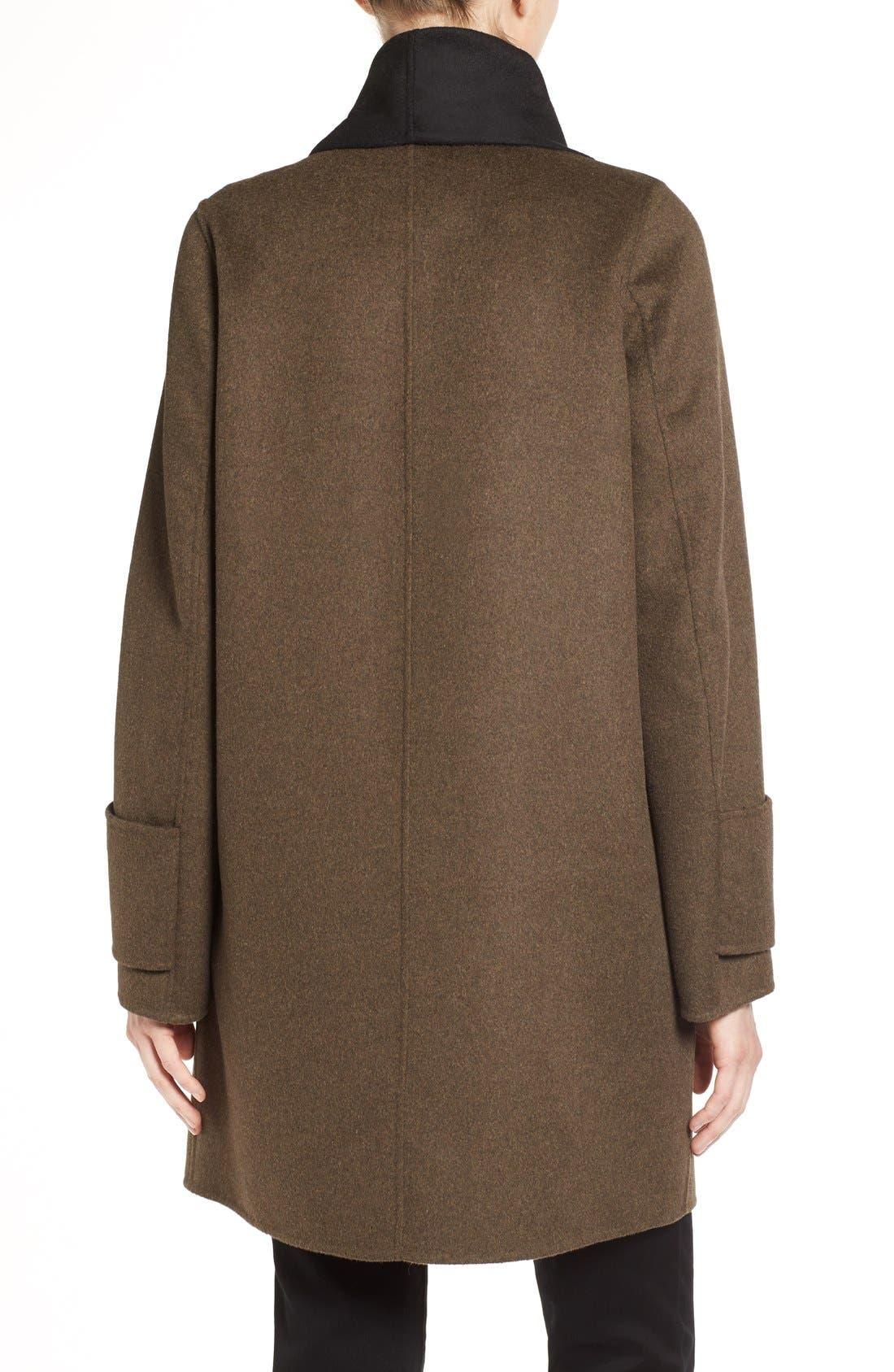 Alternate Image 2  - Calvin Klein Double Face Drape Front Coat