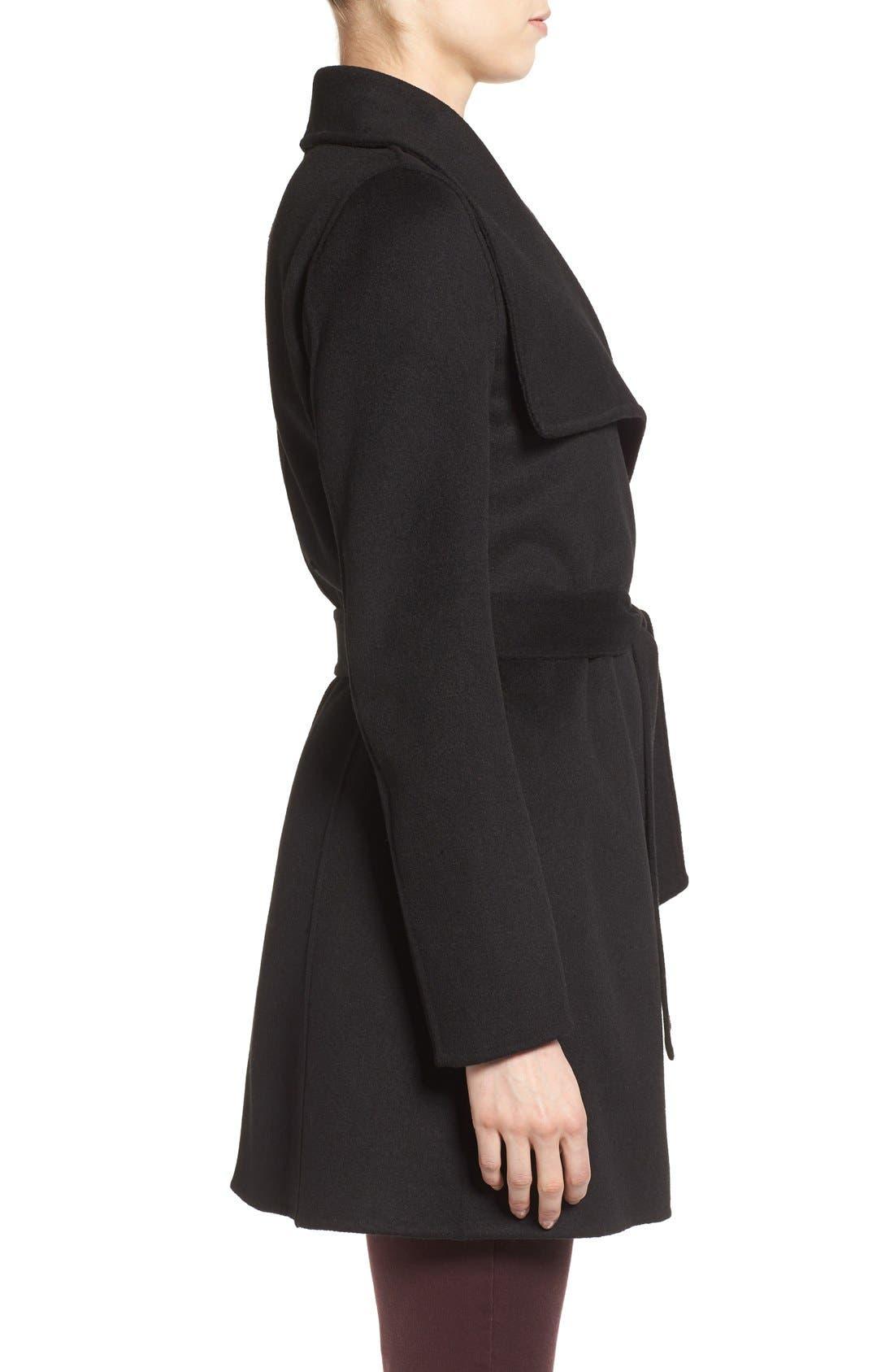 Alternate Image 3  - Tahari 'Ella' Belted Double Face Wool Blend Wrap Coat (Regular & Petite)