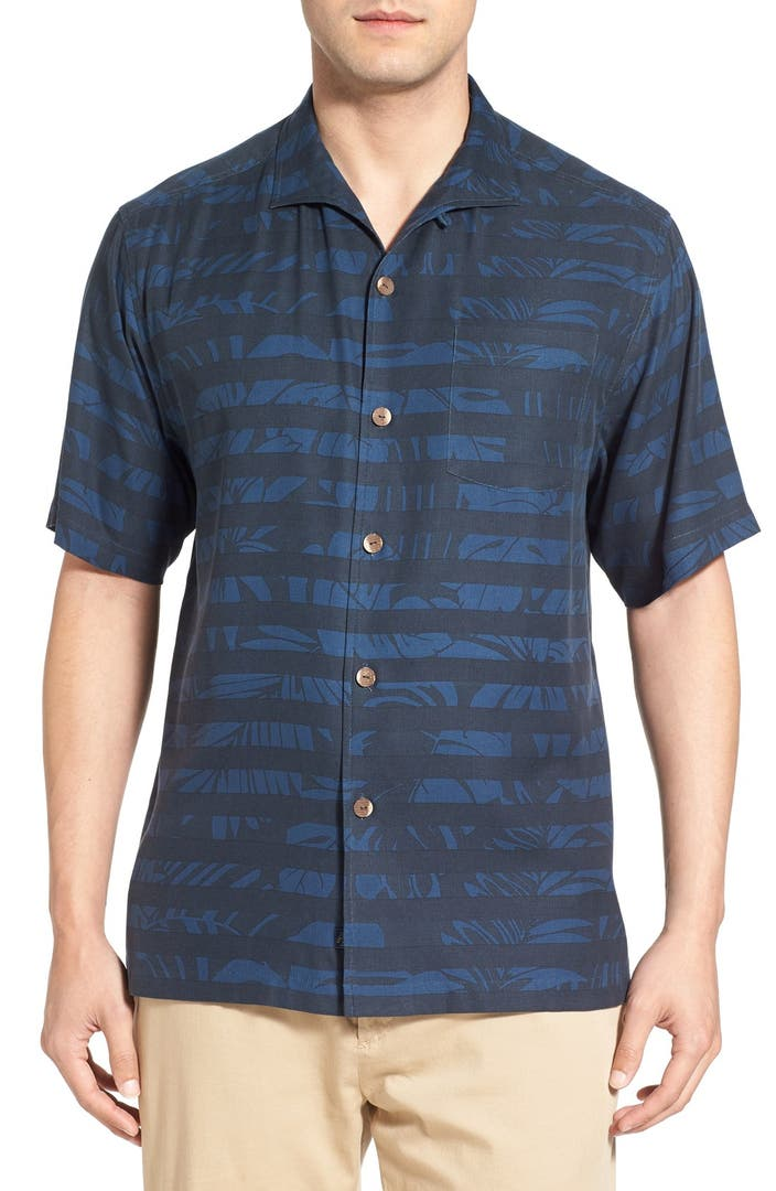 Tommy bahama 39 stripe to france 39 original fit silk camp for Tommy bahama short sleeve silk camp shirt