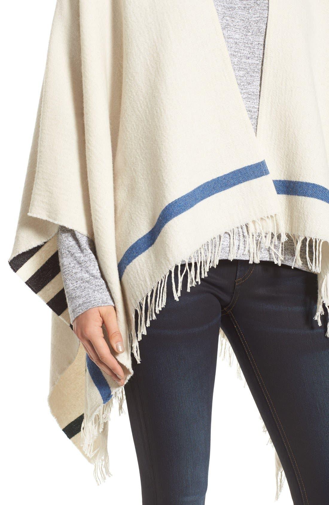 Alternate Image 4  - rag & bone 'Ines' Stripe Wool Blend Poncho