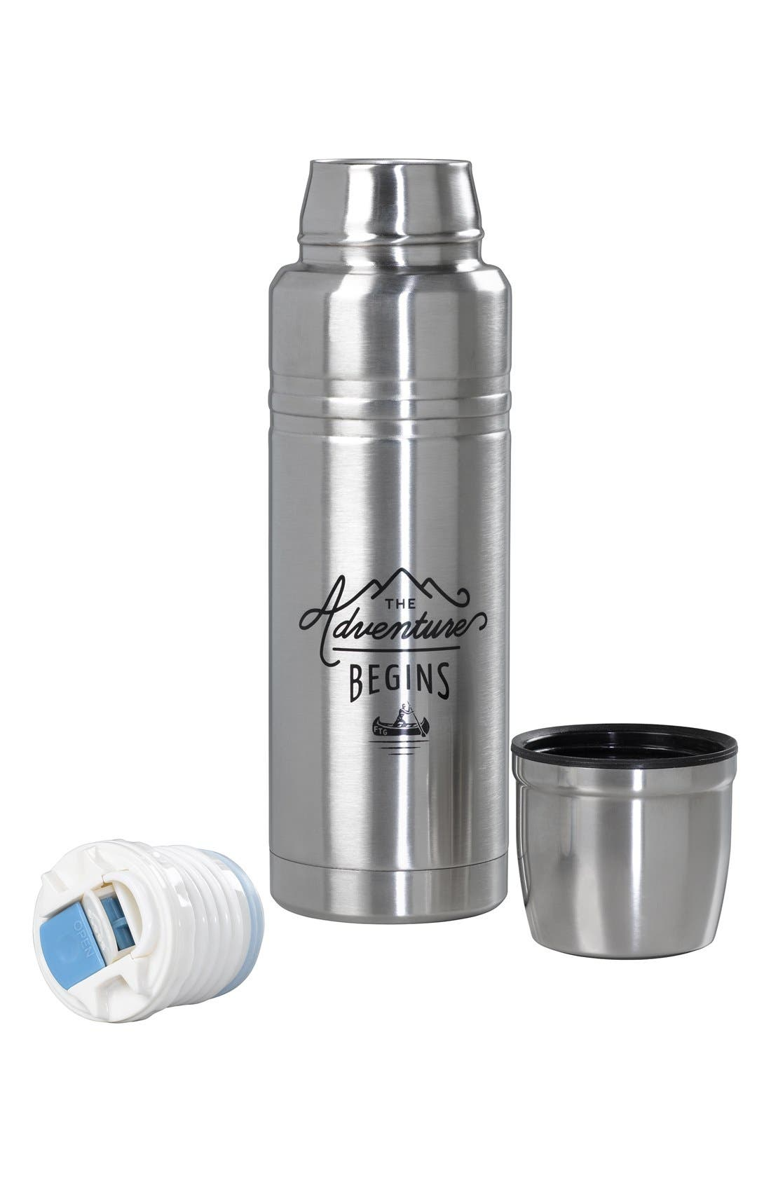 Alternate Image 2  - Wild and Wolf 'The Adventure Begins' Stainless Steel Vacuum Flask