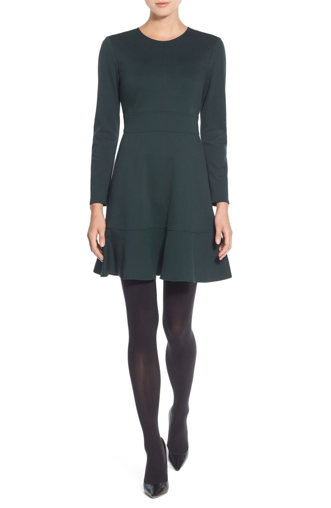 Alternate Image 4  - Eliza J Ruffle Hem Stretch Fit & Flare Dress