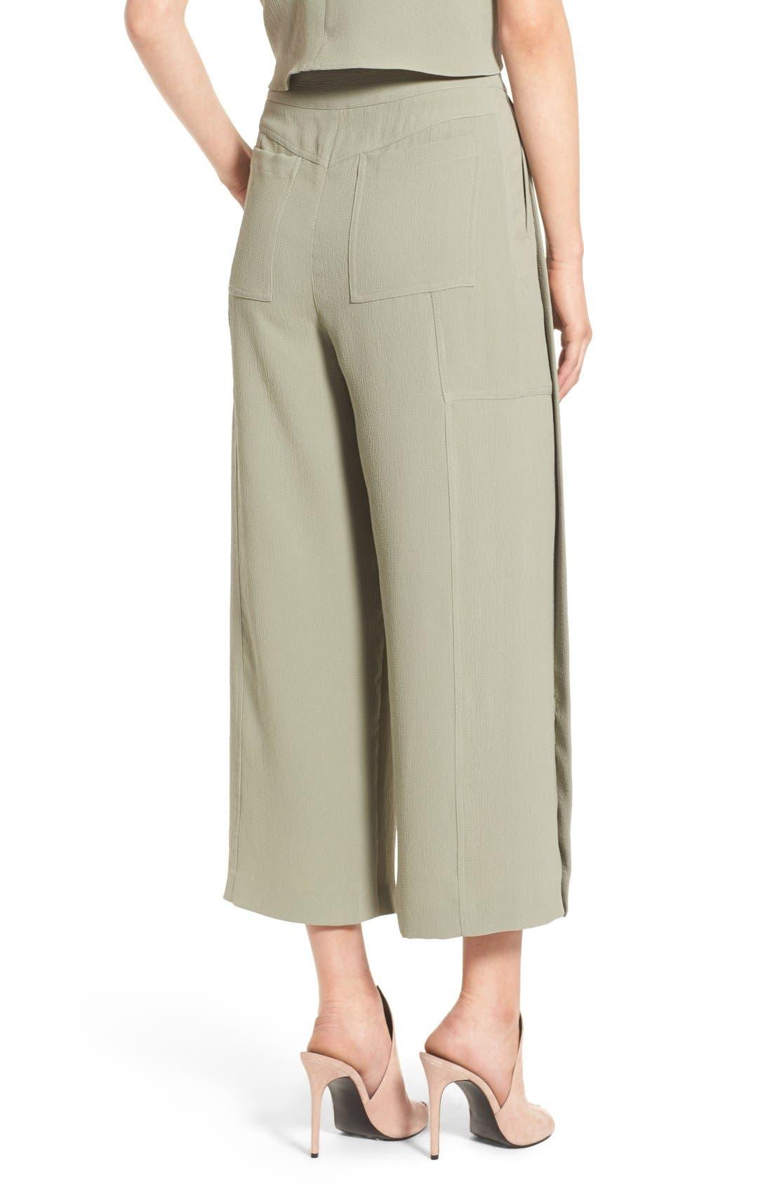 Alternate Image 3  - KENDALL + KYLIE High Waist Wide Leg Crop Pants