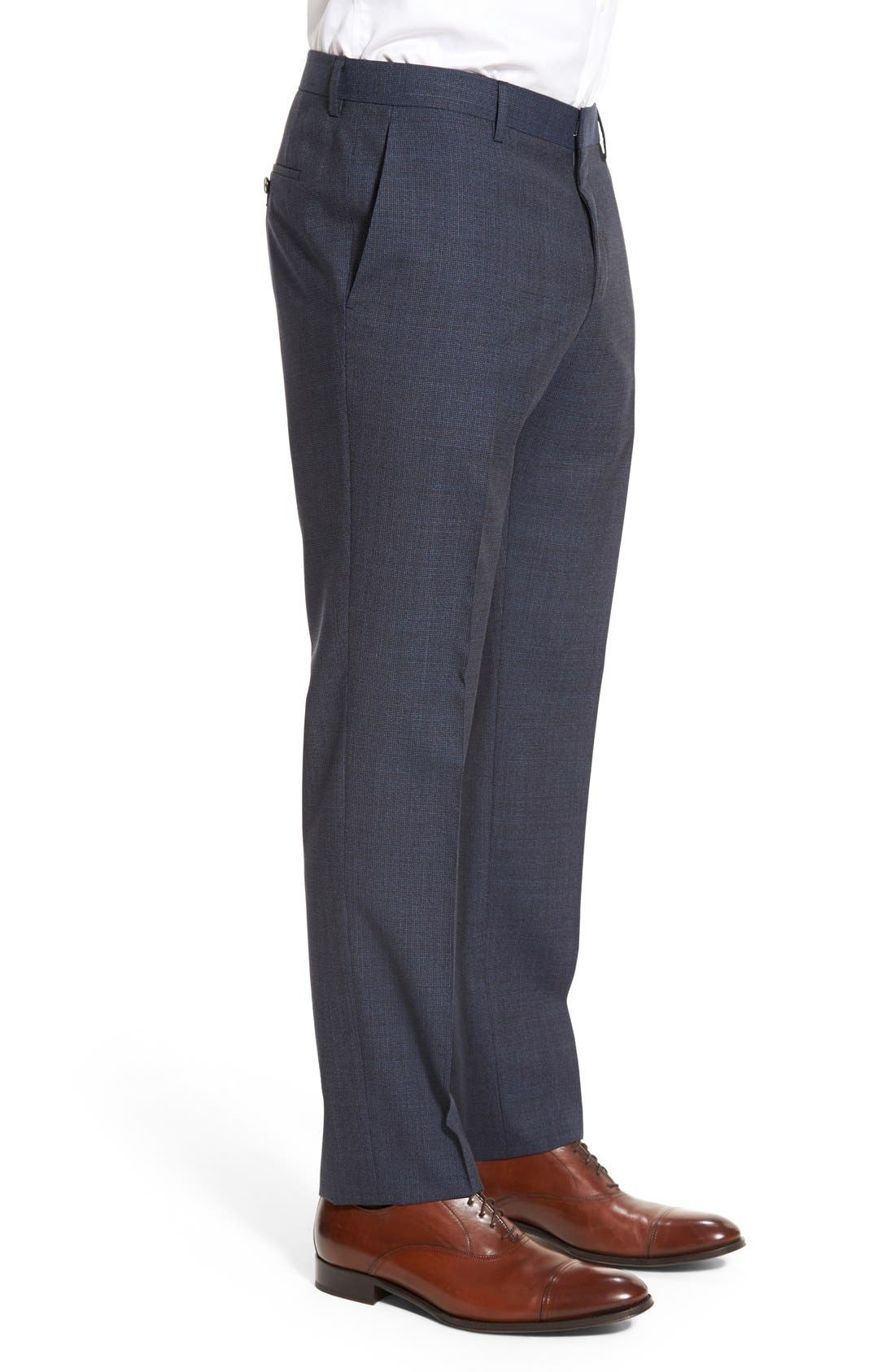 Alternate Image 4  - BOSS 'Genesis' Flat Front Houndstooth Wool Trousers