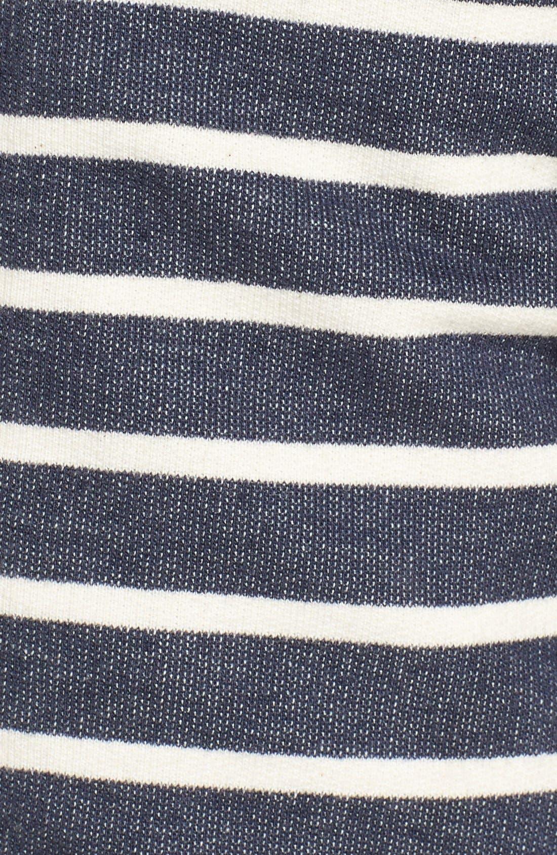 Alternate Image 5  - 1901 'Ashland' Stripe Zip Front Hoodie