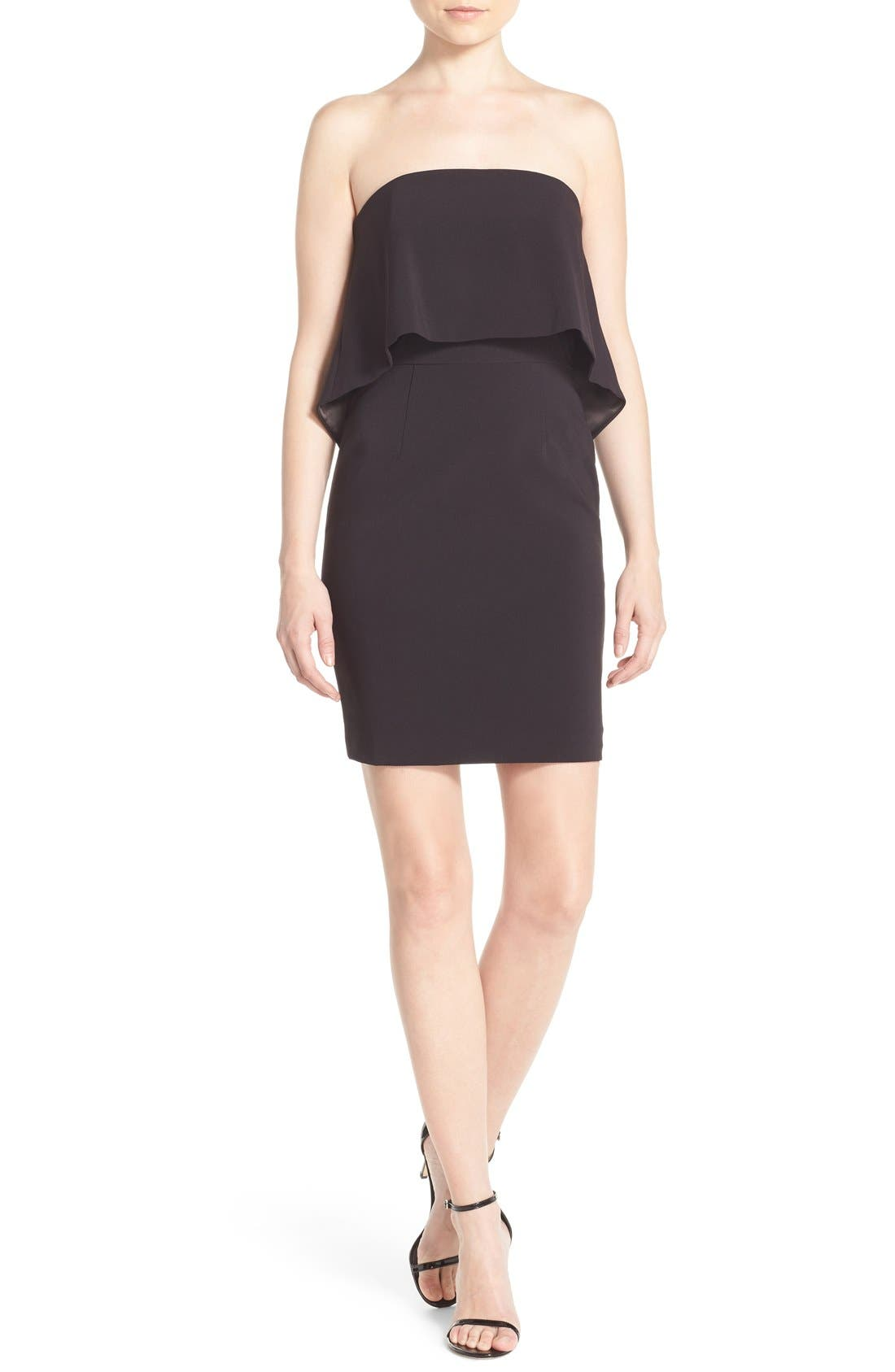 Alternate Image 4  - Jay Godfrey 'Viola' Strapless Popover Sheath Dress