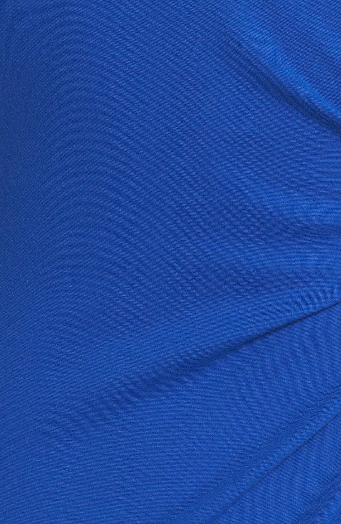 Alternate Image 3  - Lafayette 148 New York Drape Neck Ponte Dress (Regular & Petite)