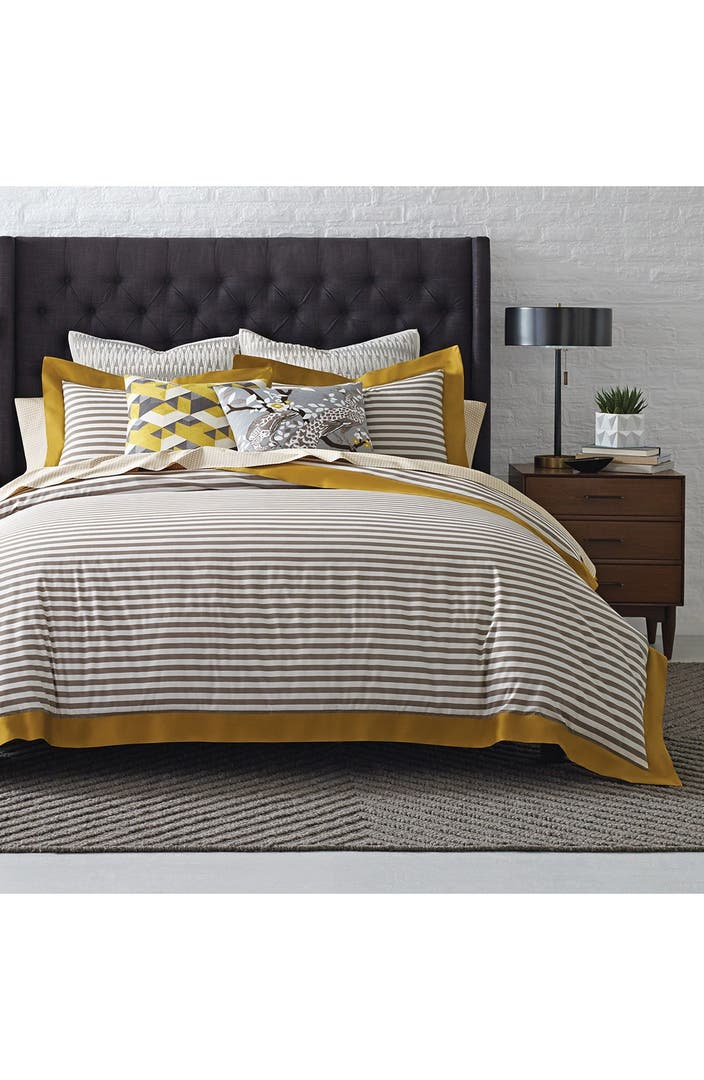 duvet cover alternate image 2 dwellstudio 39 draper stripe 39 duvet