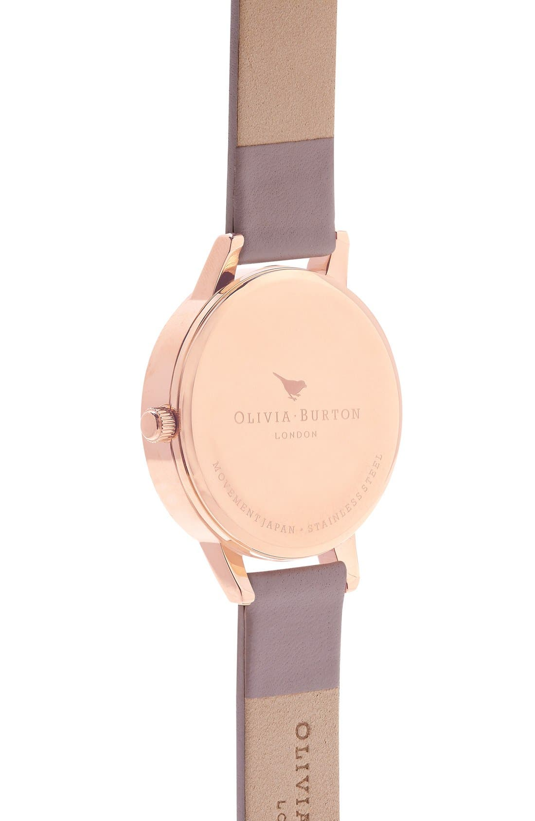 Alternate Image 3  - Olivia Burton 'Wonderland' Leather Strap Watch, 30mm