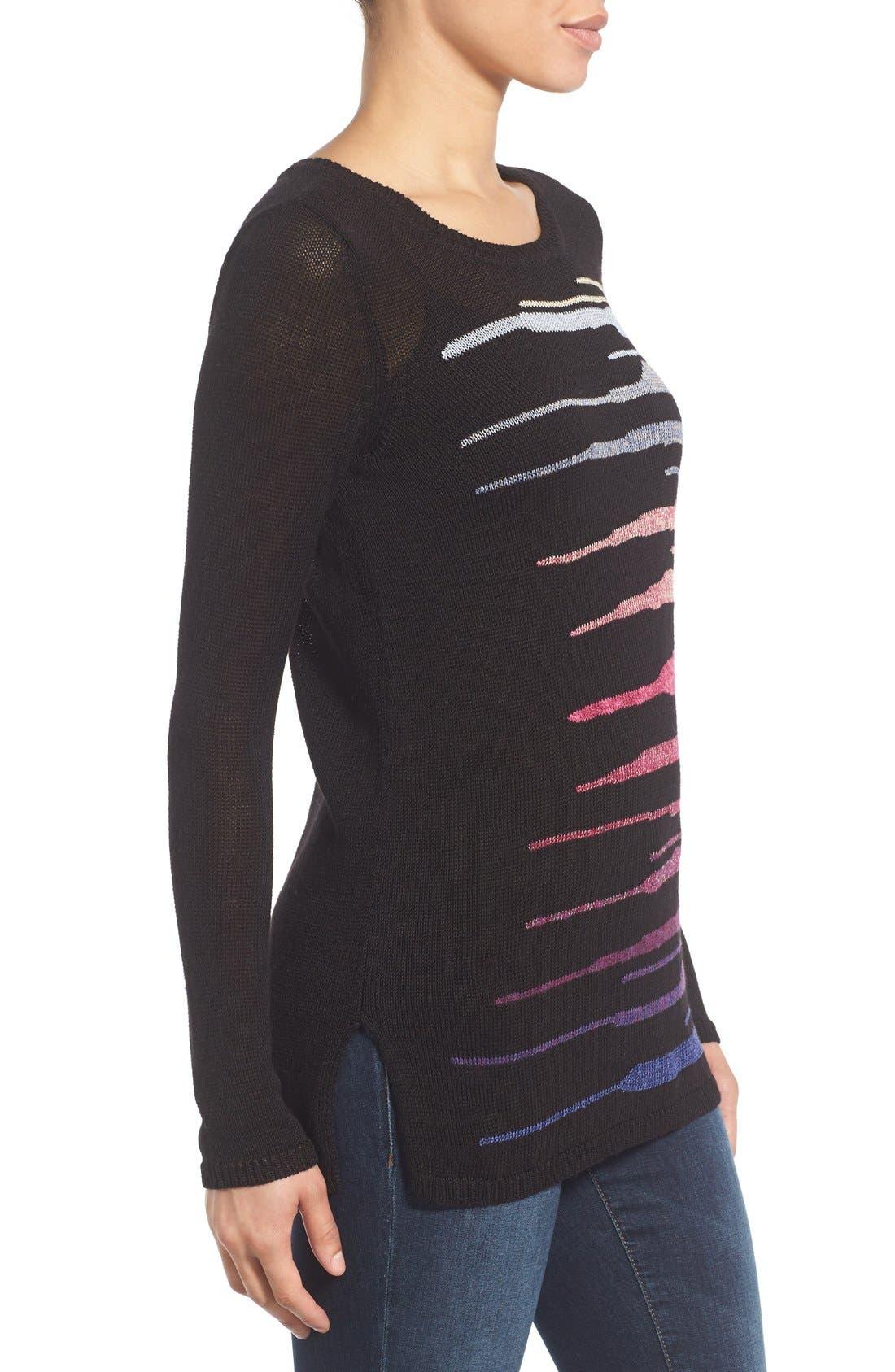Alternate Image 4  - NIC+ZOE 'Speared' Print Lightweight Sweater