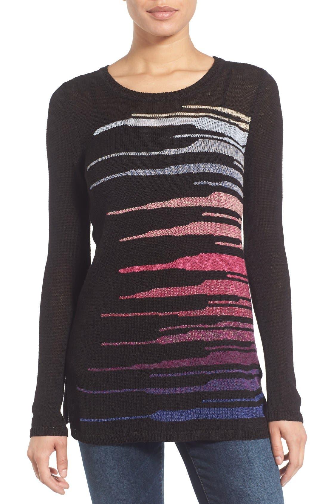 Alternate Image 1 Selected - NIC+ZOE 'Speared' Print Lightweight Sweater