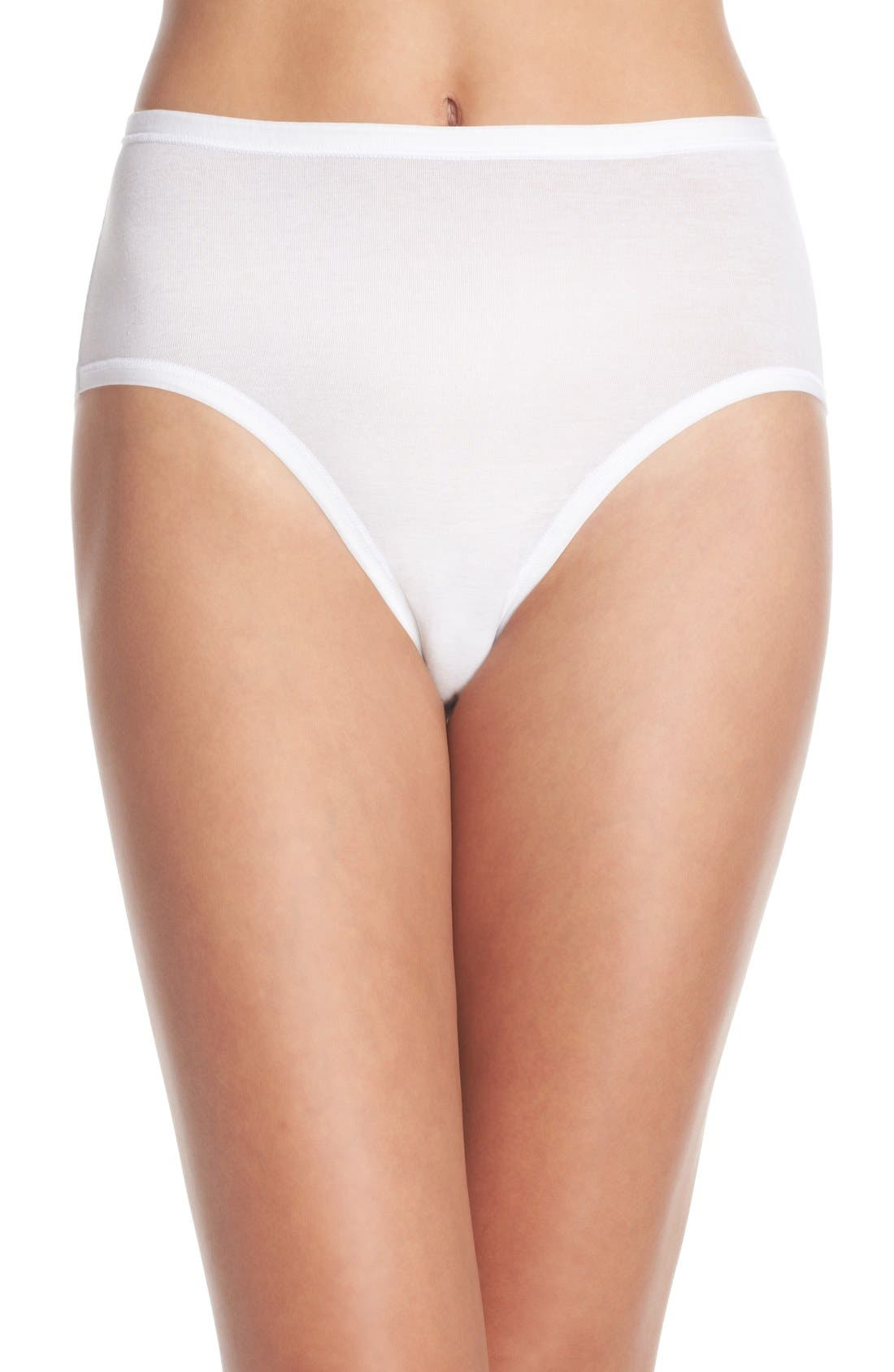 Alternate Image 1 Selected - Wacoal B Fitting High Cut Briefs (3 for $28)