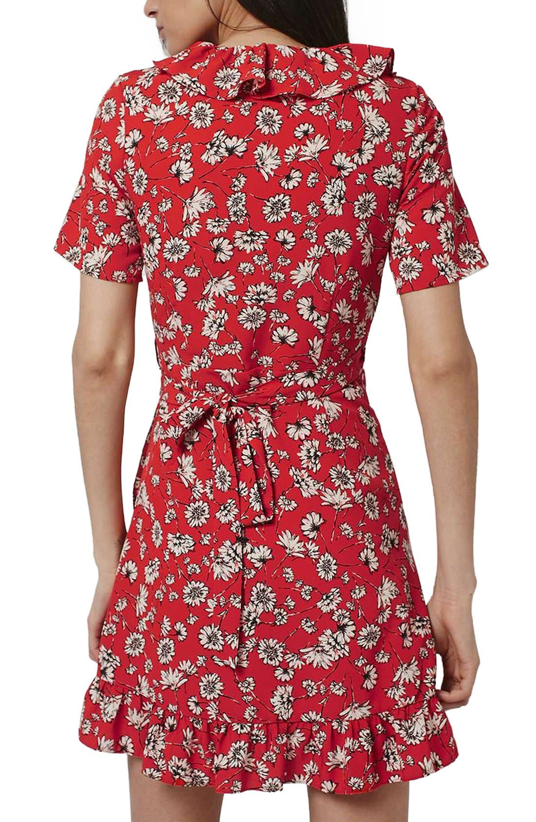 Alternate Image 2  - Topshop Daisy Ruffle Wrap Dress