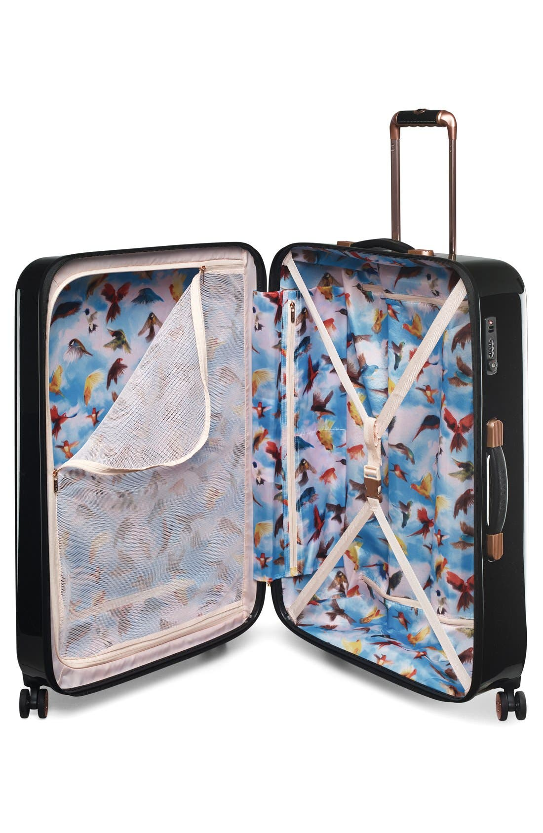 Alternate Image 3  - Ted Baker London 'Large Stencilled Stem' Four Wheel Suitcase (32 Inch)