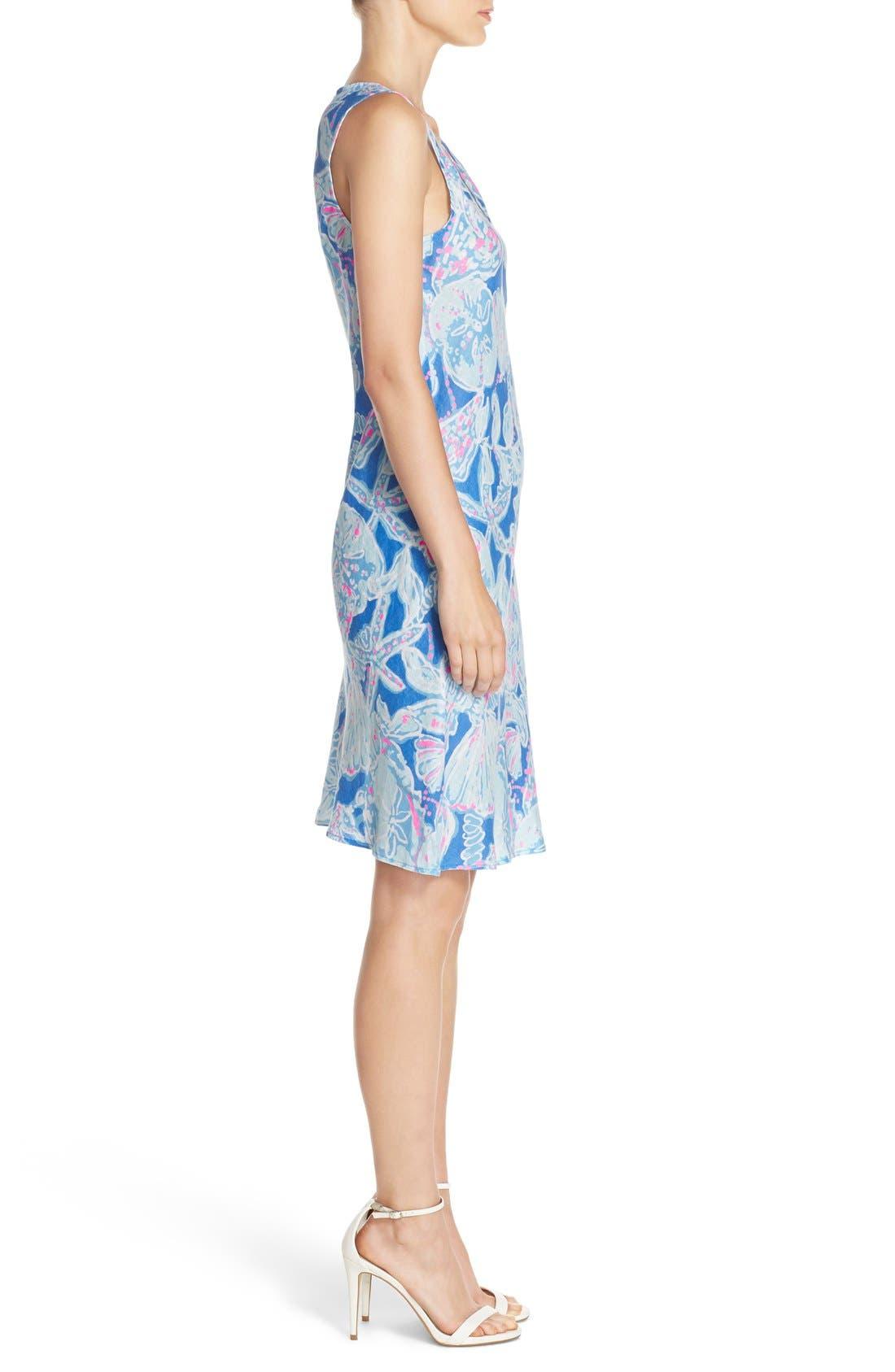 Alternate Image 3  - Lilly Pulitzer® 'Patterson' Print Linen Sheath Dress