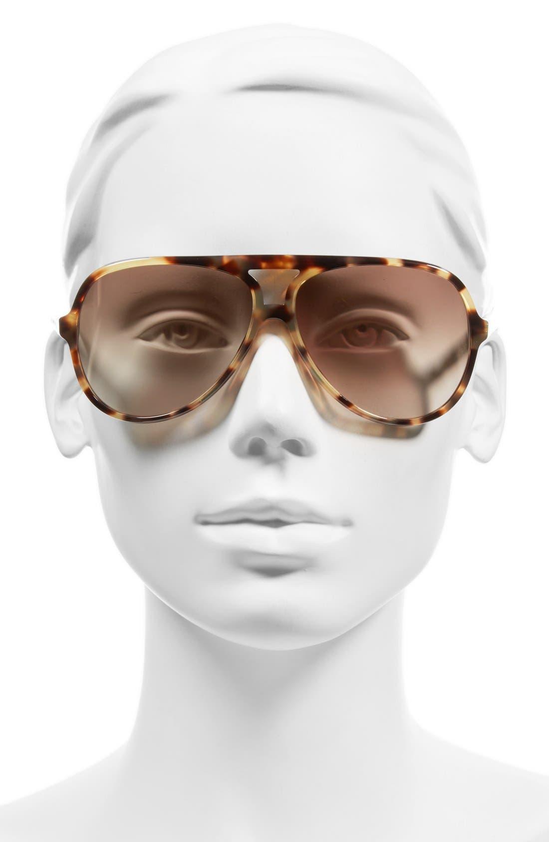 Alternate Image 2  - MARC JACOBS 60mm Aviator Sunglasses