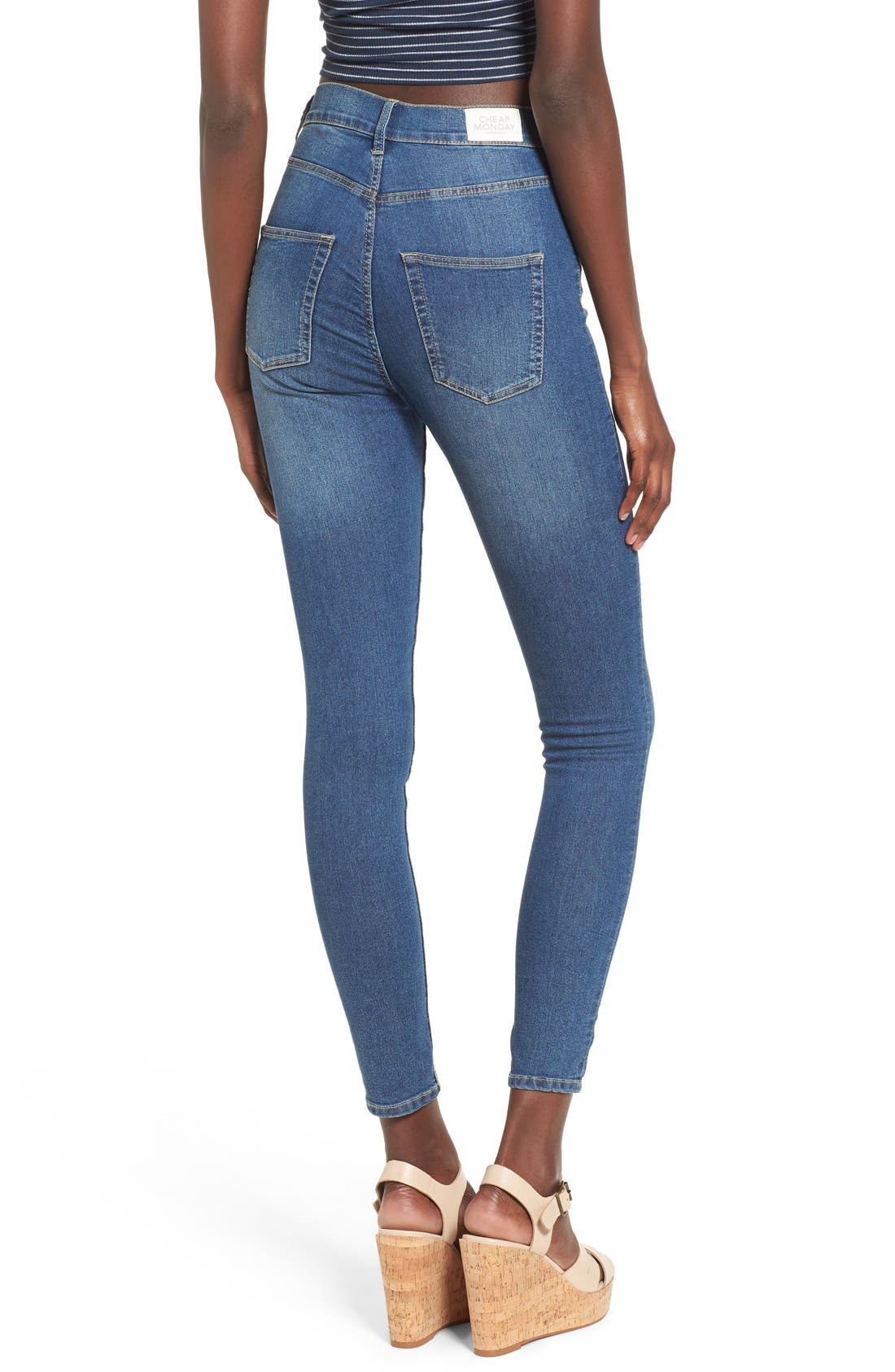 Alternate Image 2  - Cheap Monday 'High Spray' High Rise Skinny Jeans