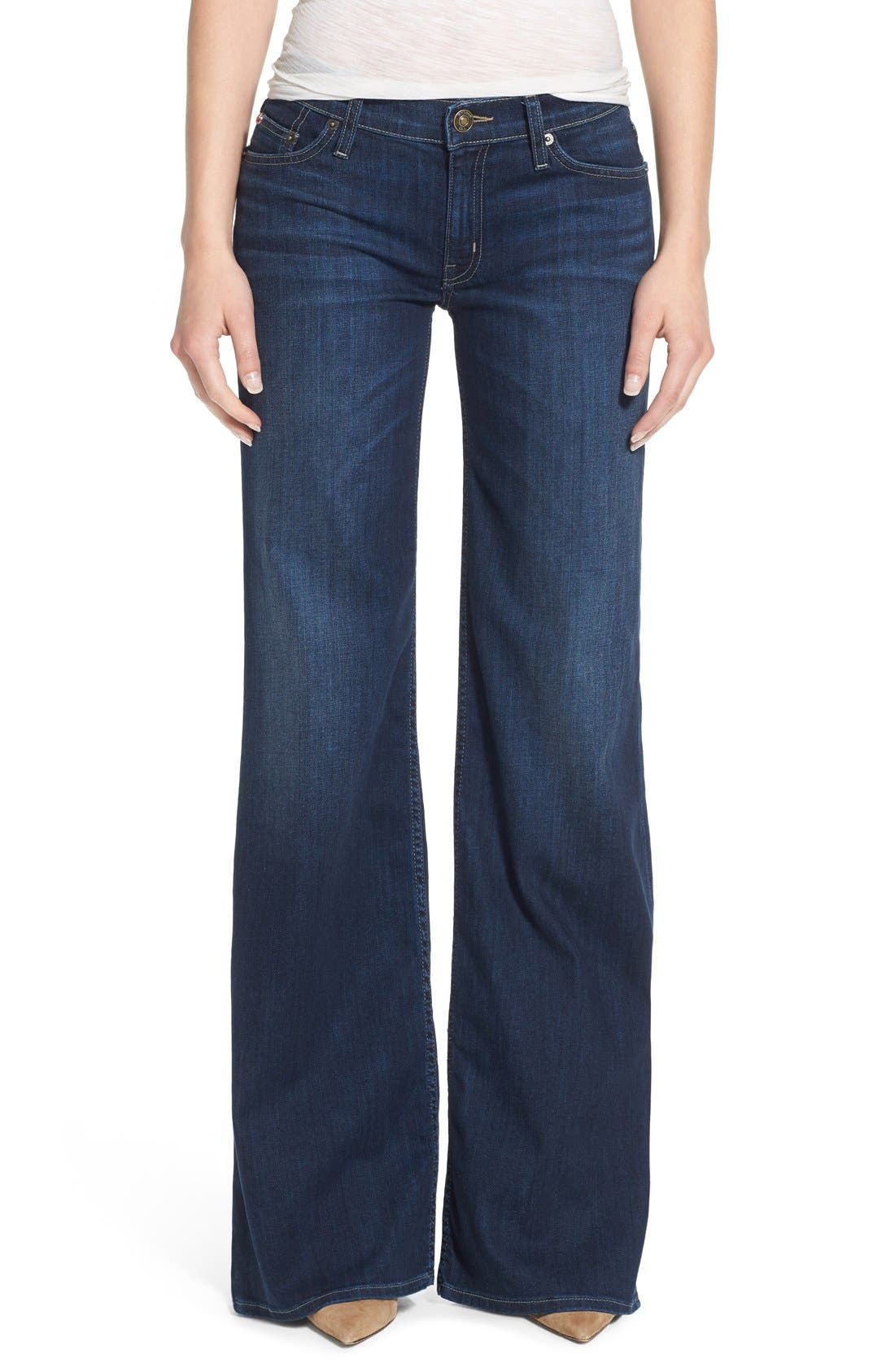 Alternate Image 1 Selected - Hudson Jeans Piper Wide Leg Jeans (Thruway)