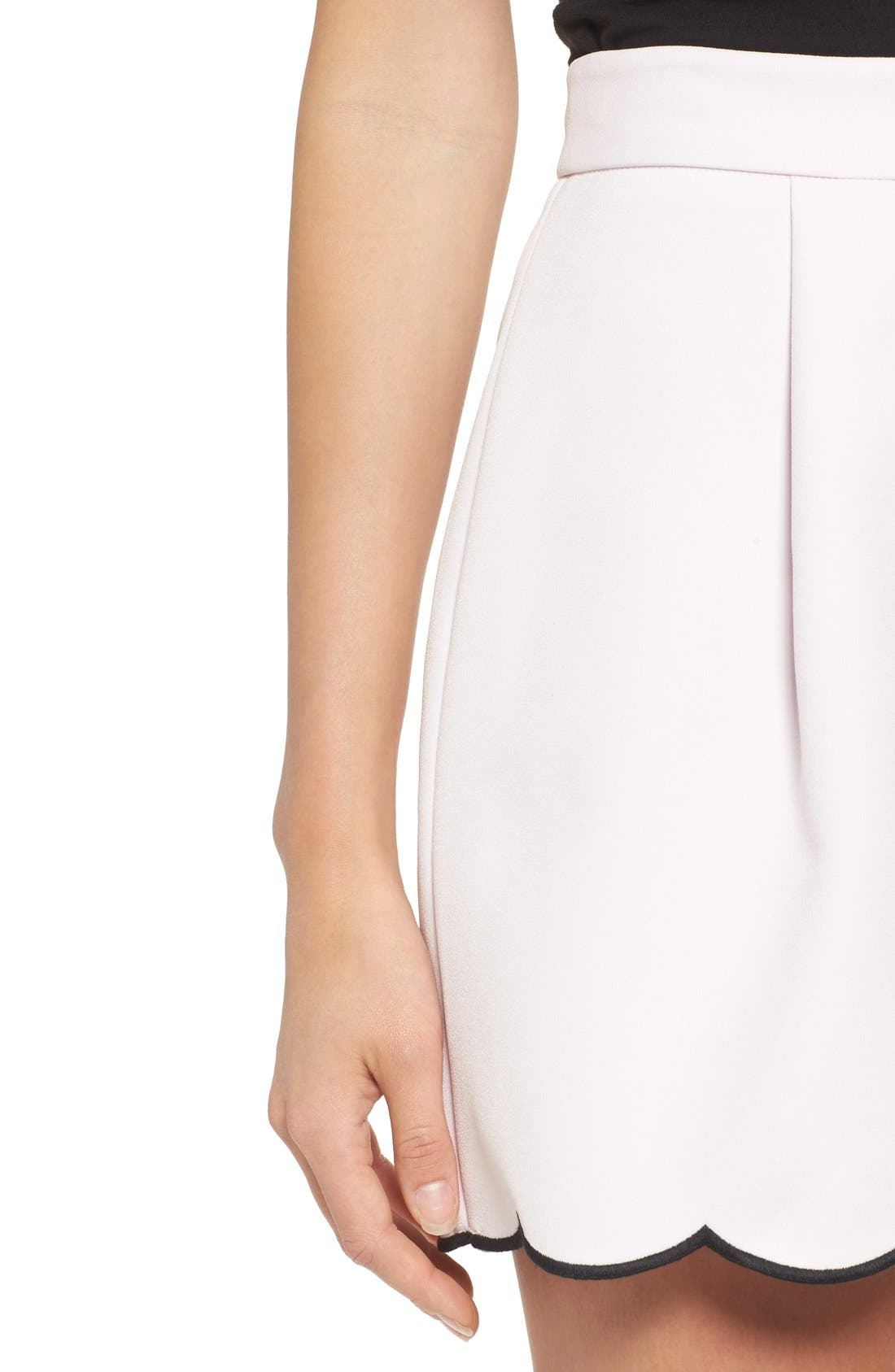 Alternate Image 5  - KENDALL + KYLIE Scallop Hem High Waist Shorts