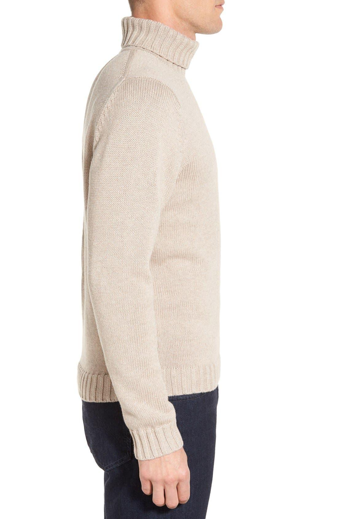 Alternate Image 3  - Nordstrom Men's Shop Chunky Turtleneck Sweater (Regular & Tall)