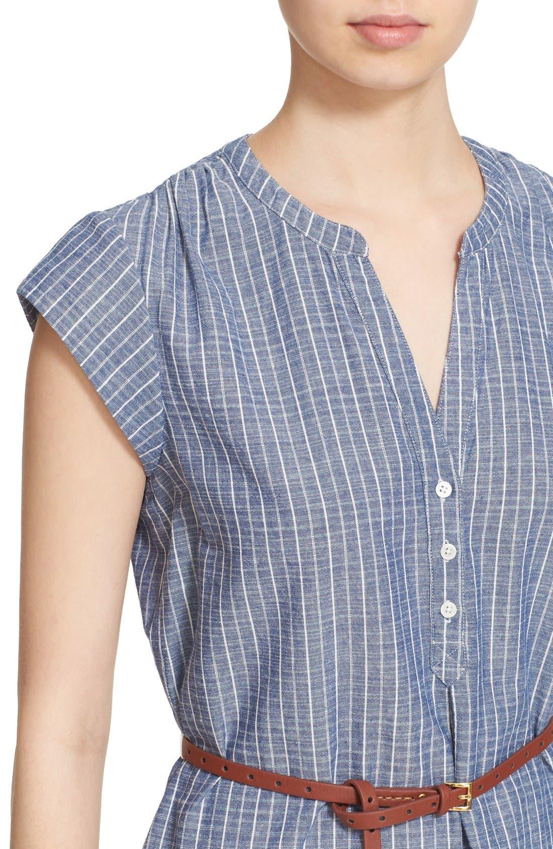 Alternate Image 4  - Joie 'Neha' Belted Cotton Split Neck Shirtdress