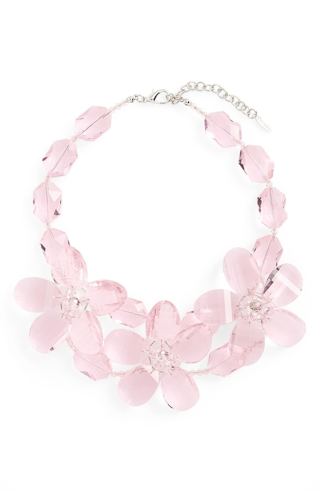 Main Image - Natasha Couture Crystal Flower Necklace