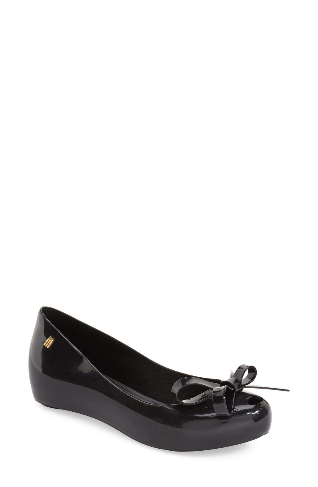 Alternate Image 1 Selected - Melissa 'Ultra Girl Bow II' Jelly Flat (Women)