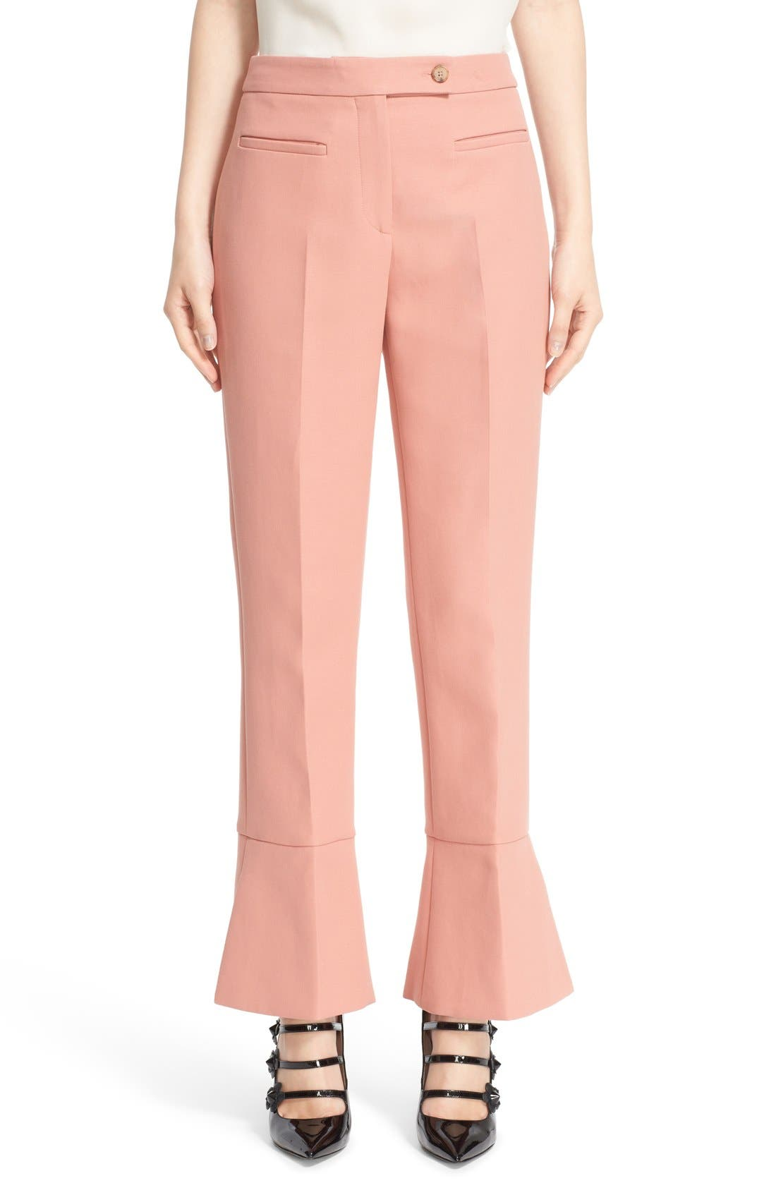 Alternate Image 1  - Fendi Trumpet Hem Crop Cotton Pants