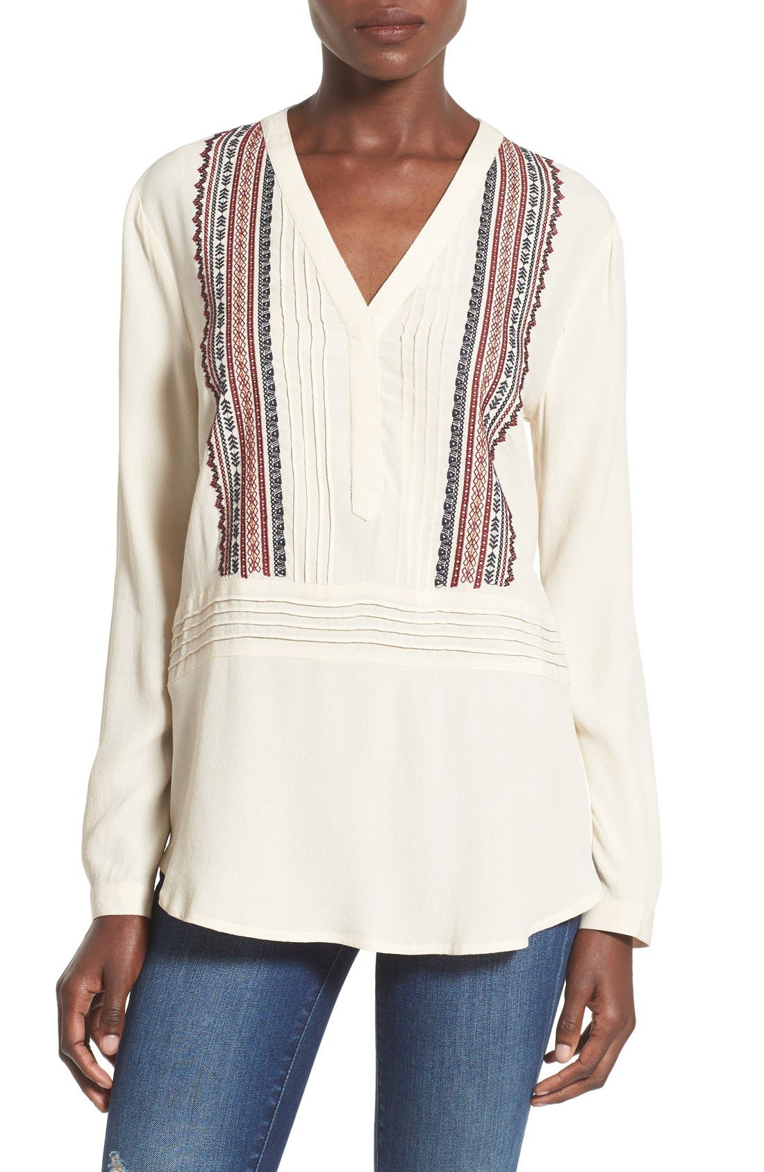 Alternate Image 1 Selected - ASTR 'Patricia' Embroidered Top