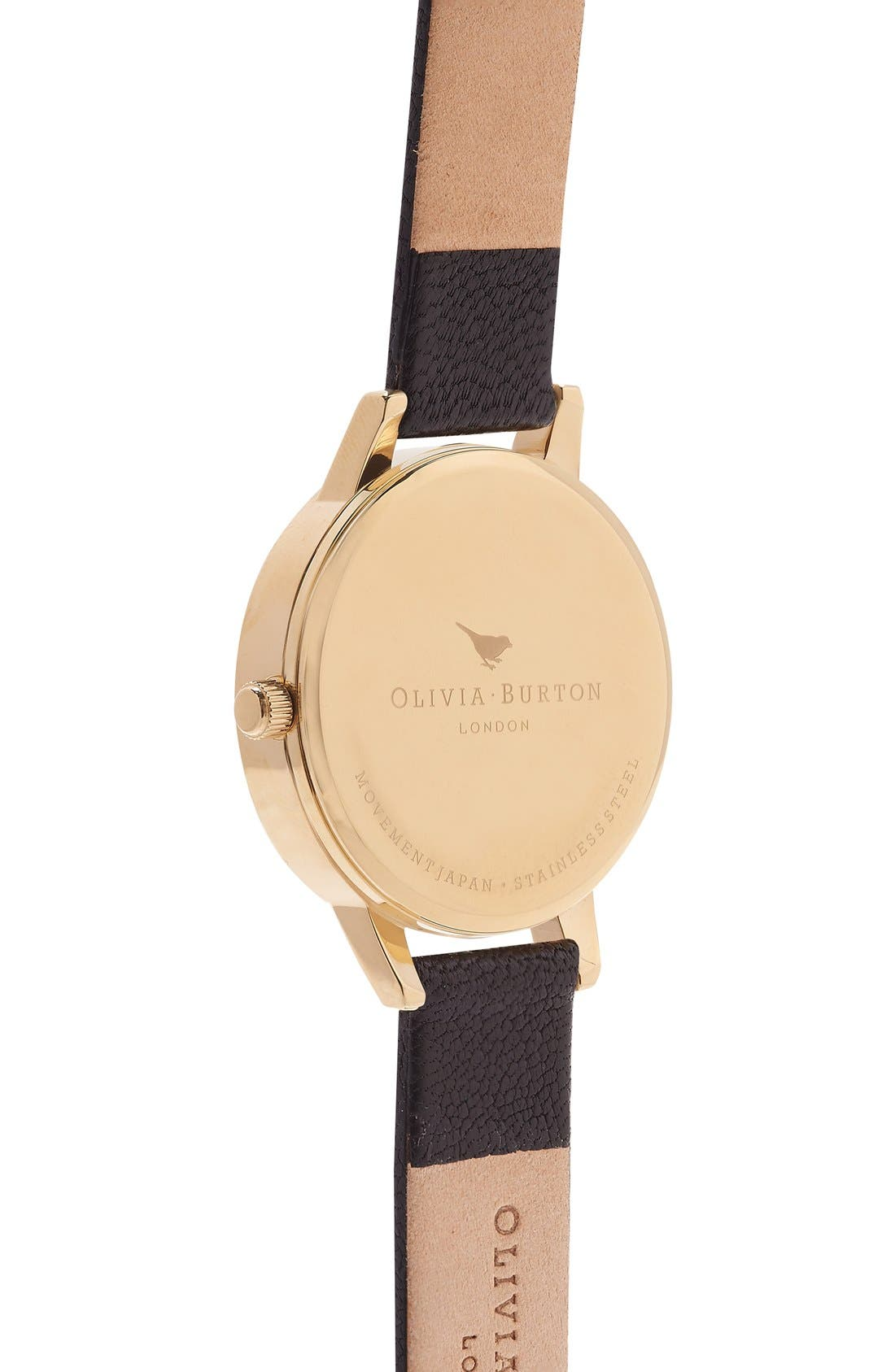 Alternate Image 3  - Olivia Burton 'Woodland Bunny' Faux Leather Strap Watch, 30mm