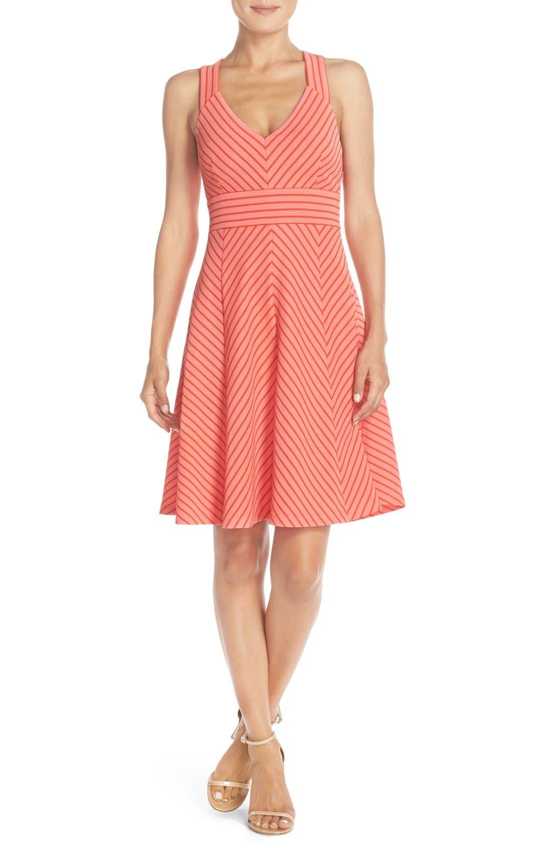 Alternate Image 4  - Adrianna Papell Stripe Ottoman Knit Sundress (Petite)