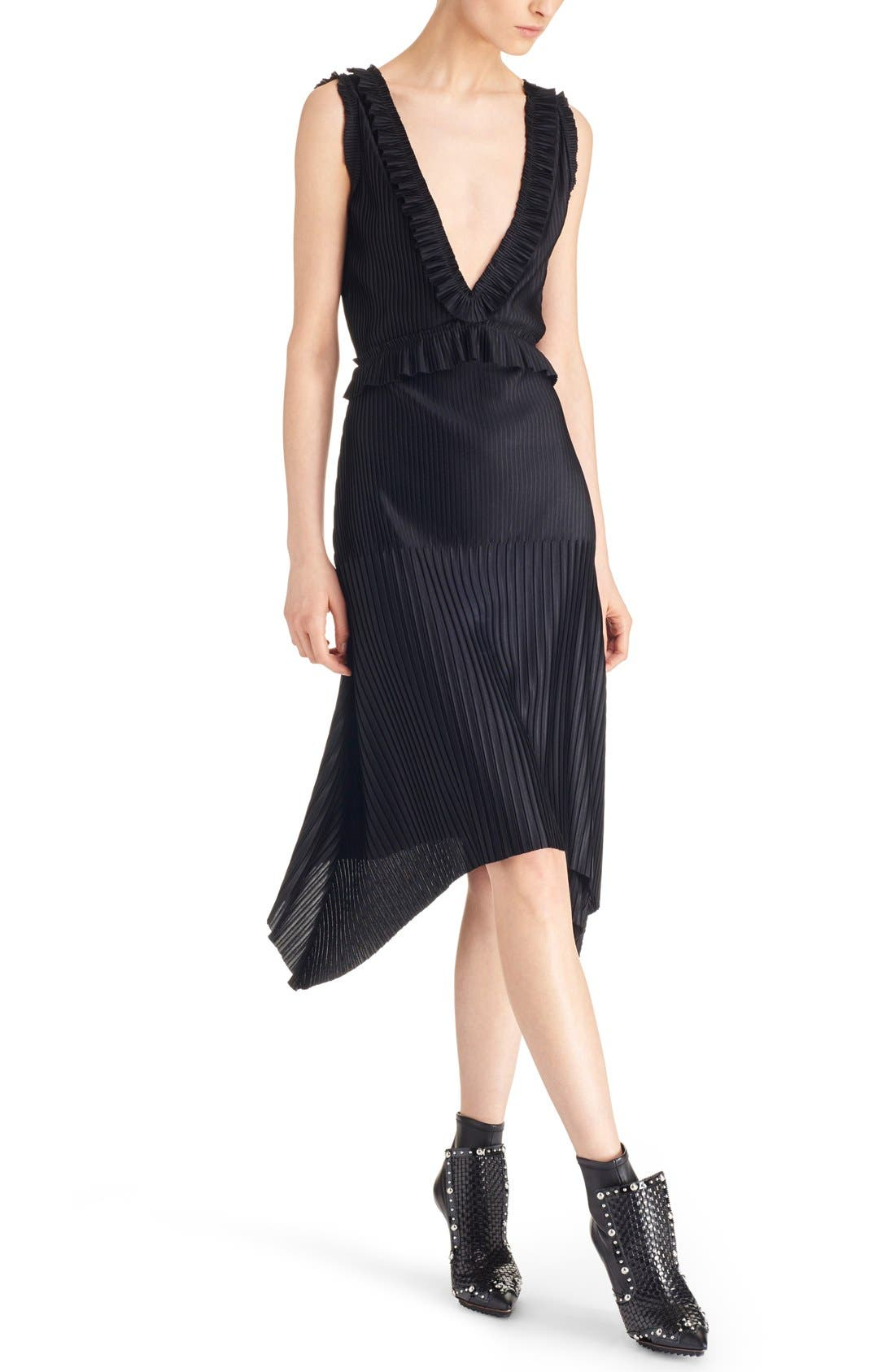 Alternate Image 5  - Givenchy V-Neck Pleated Jersey Dress