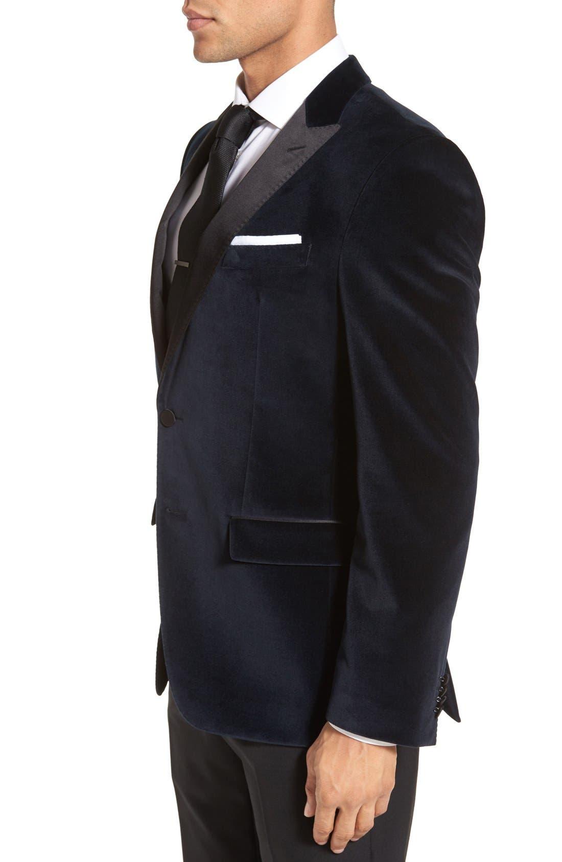 Alternate Image 3  - BOSS 'Haimon' Trim Fit Velvet Dinner Jacket