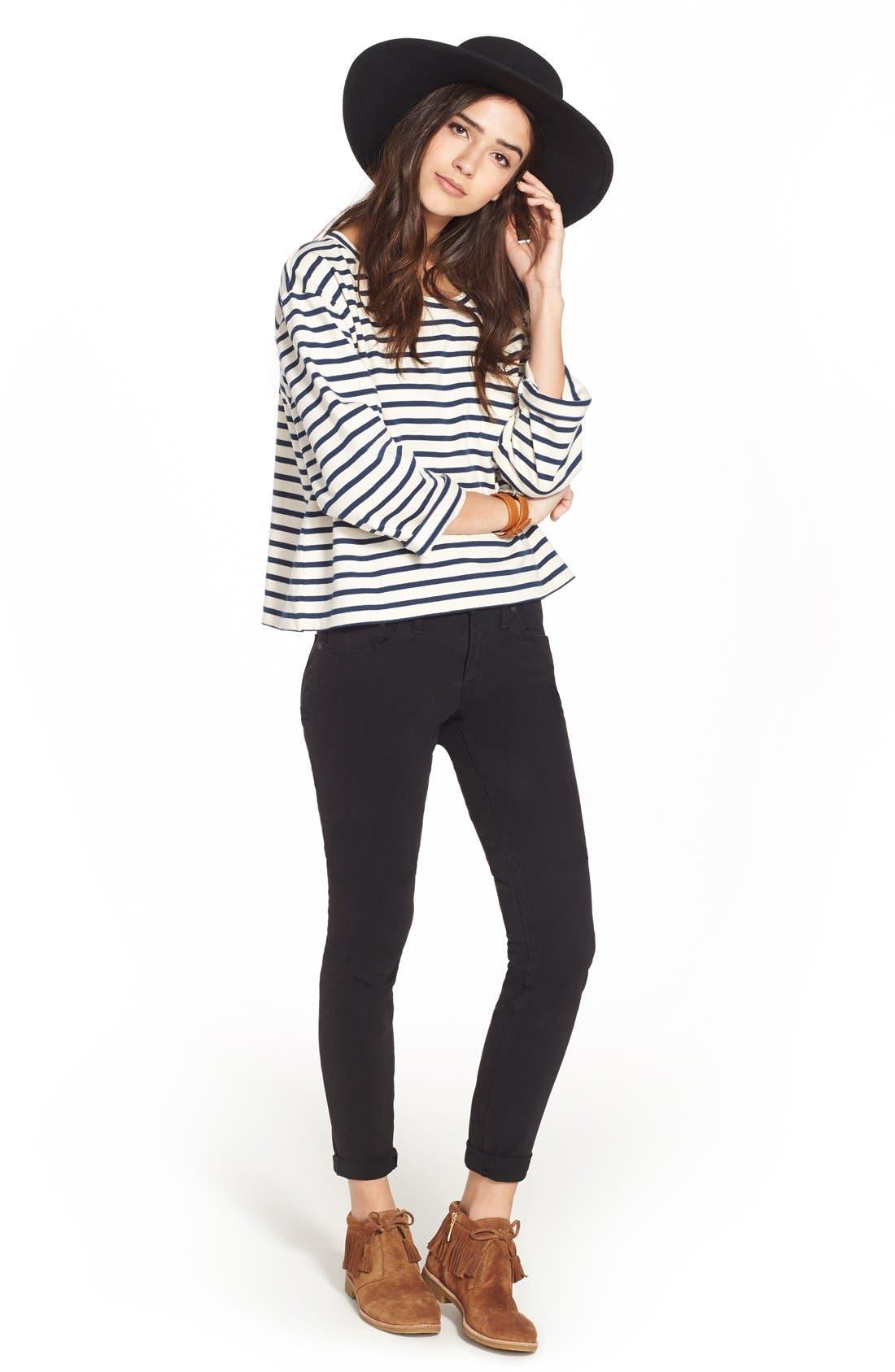 Alternate Image 2  - Madewell Garment Dyed Skinny Jeans
