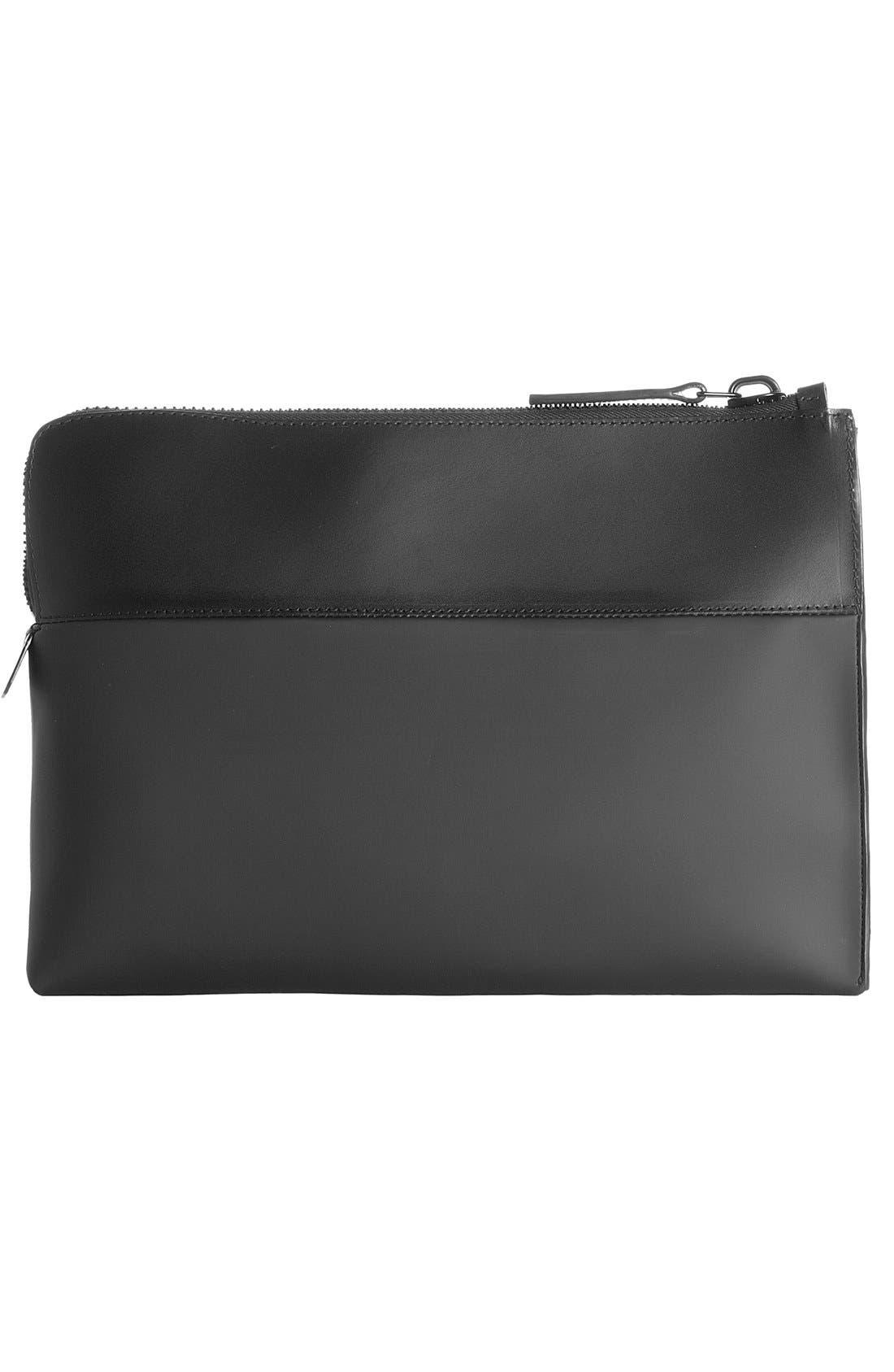 Alternate Image 2  - Troubadour Rubber & Leather Portfolio Case
