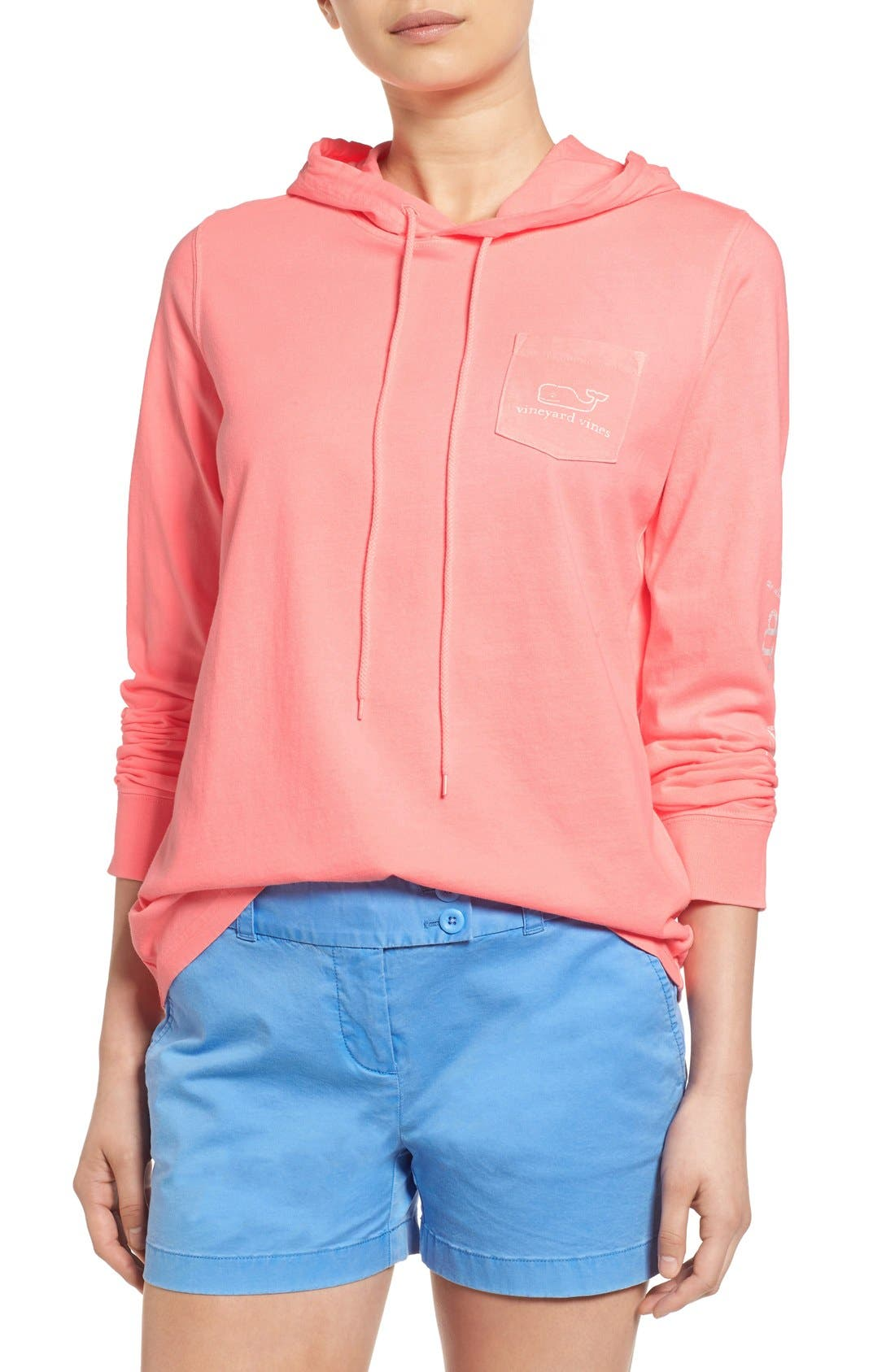 Main Image - Vineyard Vines Whale Graphic Long Sleeve Hooded Tee