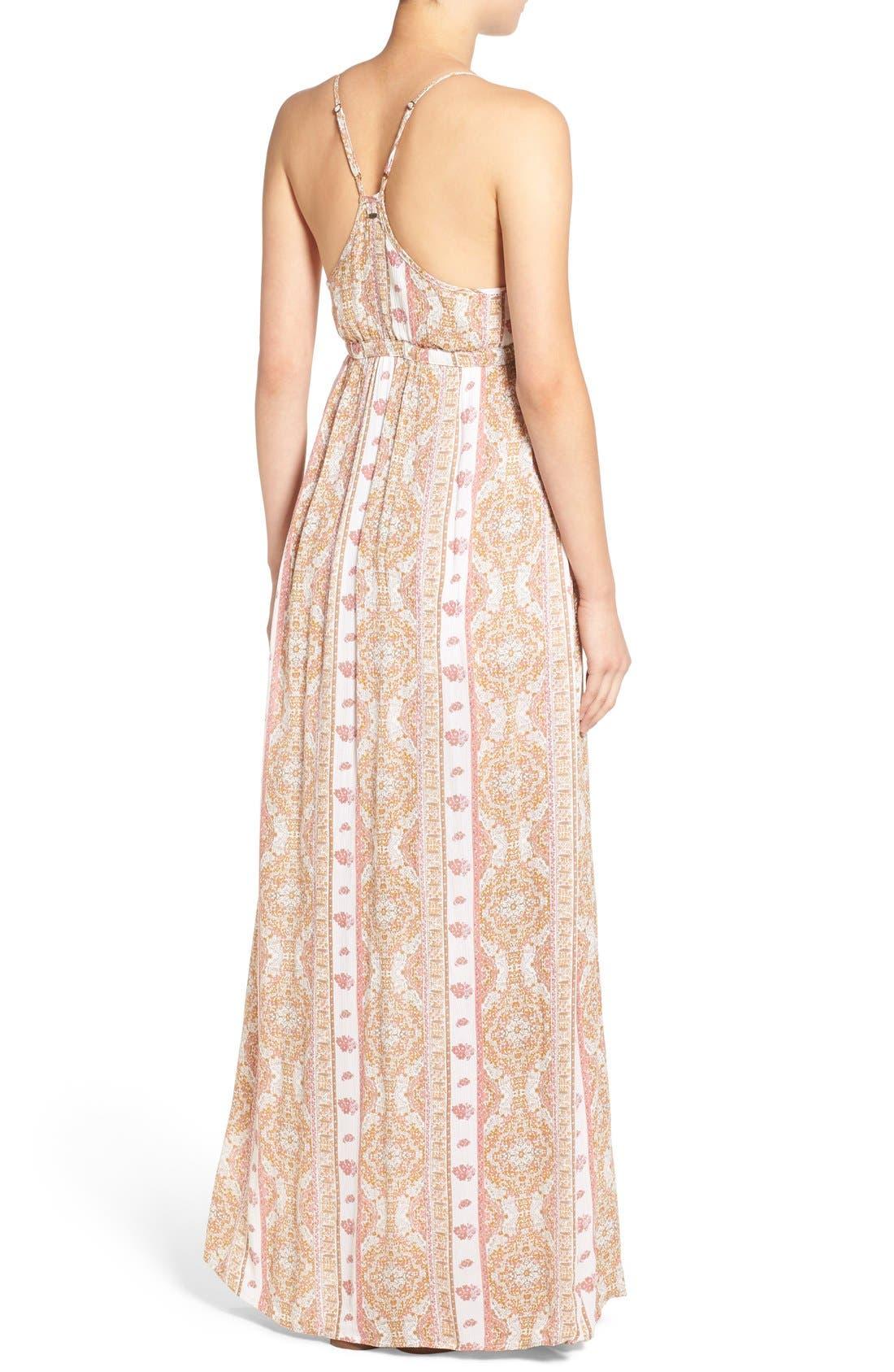 Alternate Image 2  - O'Neill 'Della' Embroidered Woven Maxi Dress