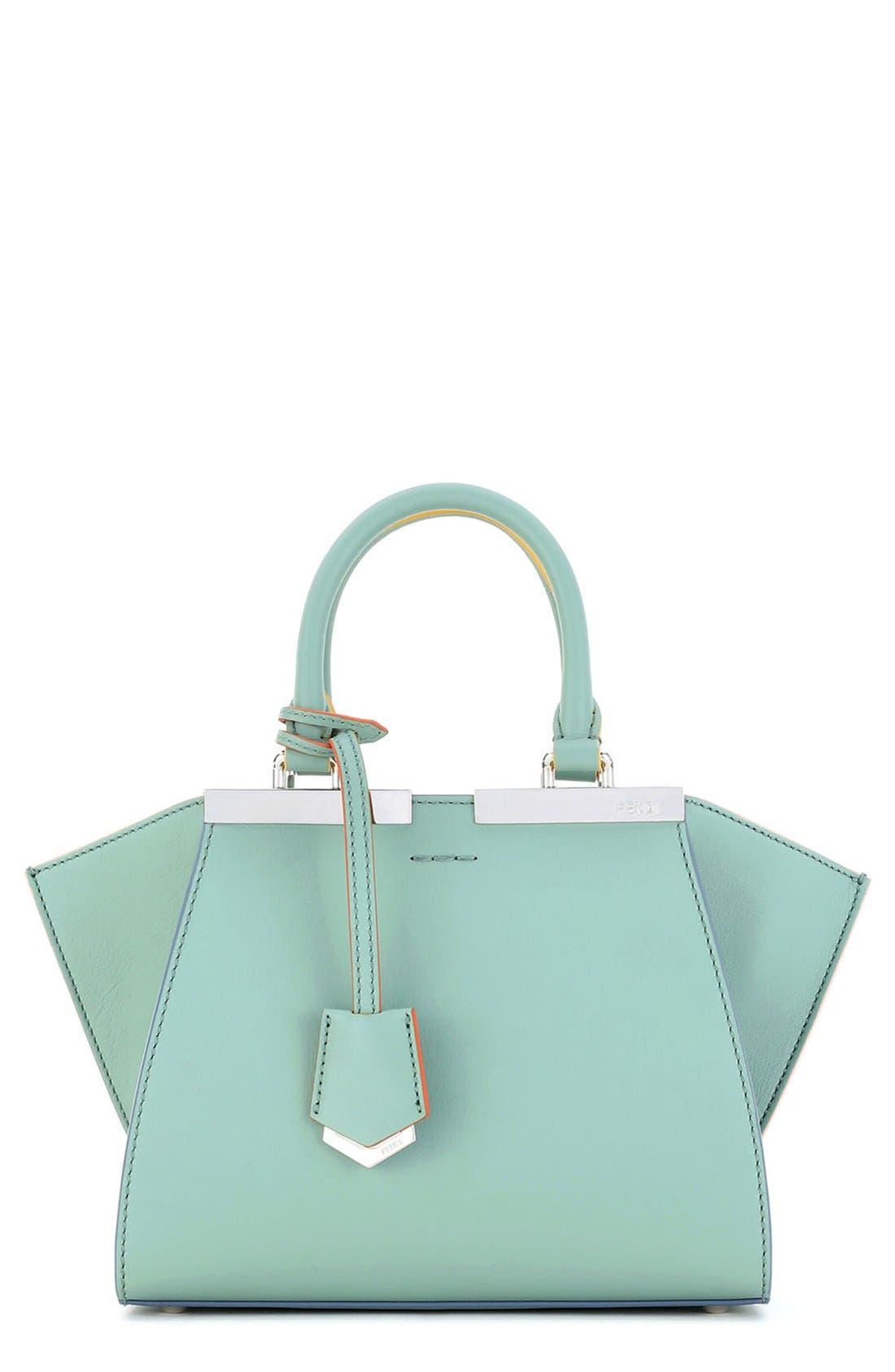 Alternate Image 1 Selected - Fendi 'Mini 3Jours' Calfskin Leather Shopper