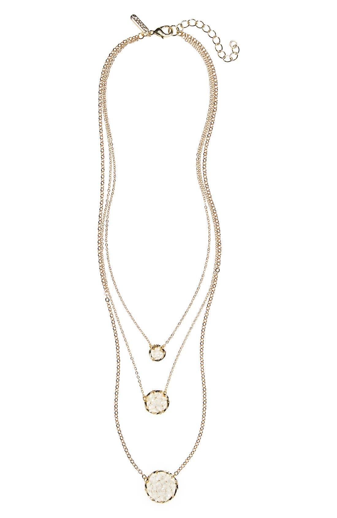 Main Image - Panacea Beaded Crystal Pendant Layered Necklace