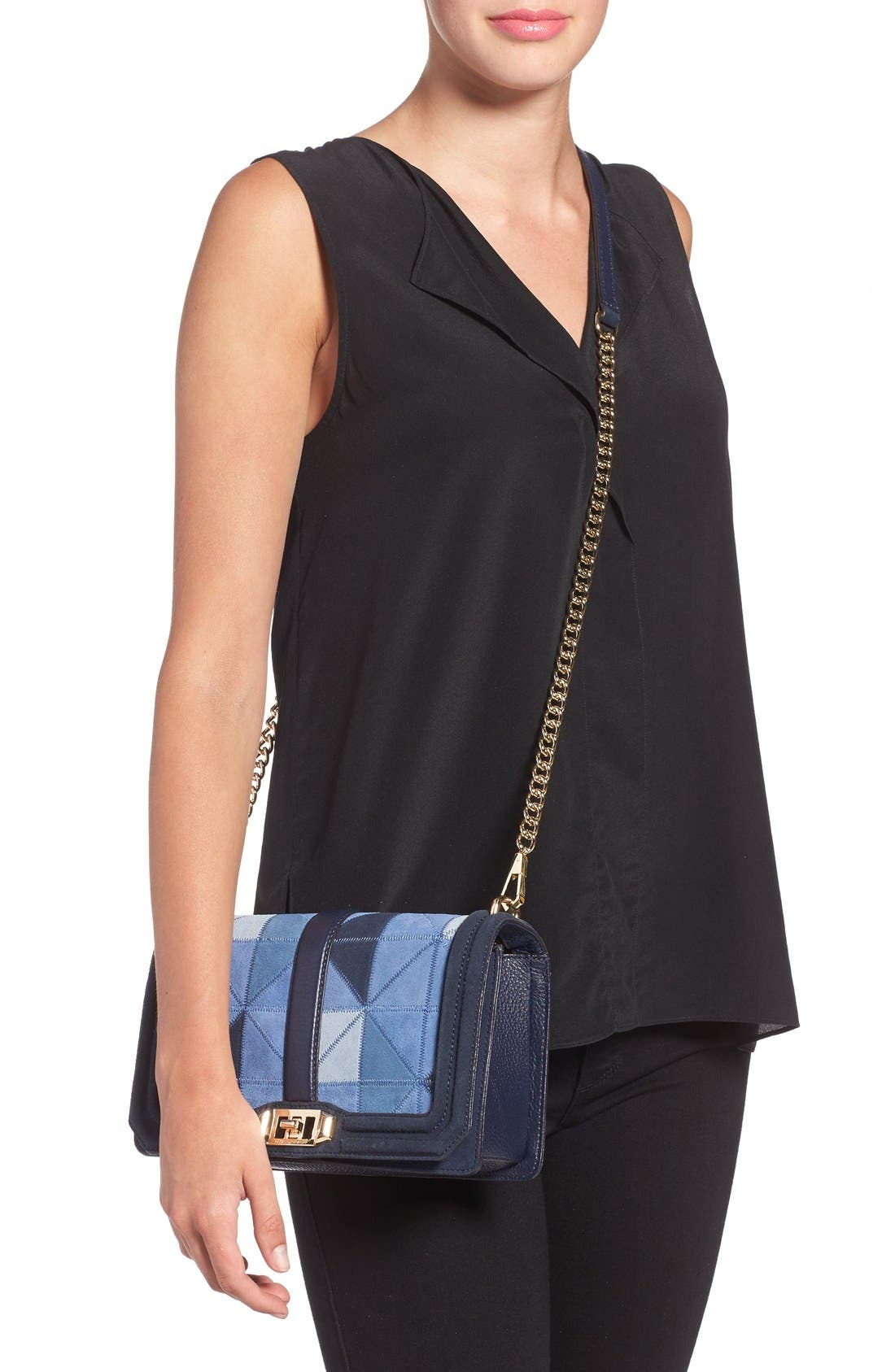 Alternate Image 2  - Rebecca Minkoff 'Love' Patchwork Leather Crossbody Bag